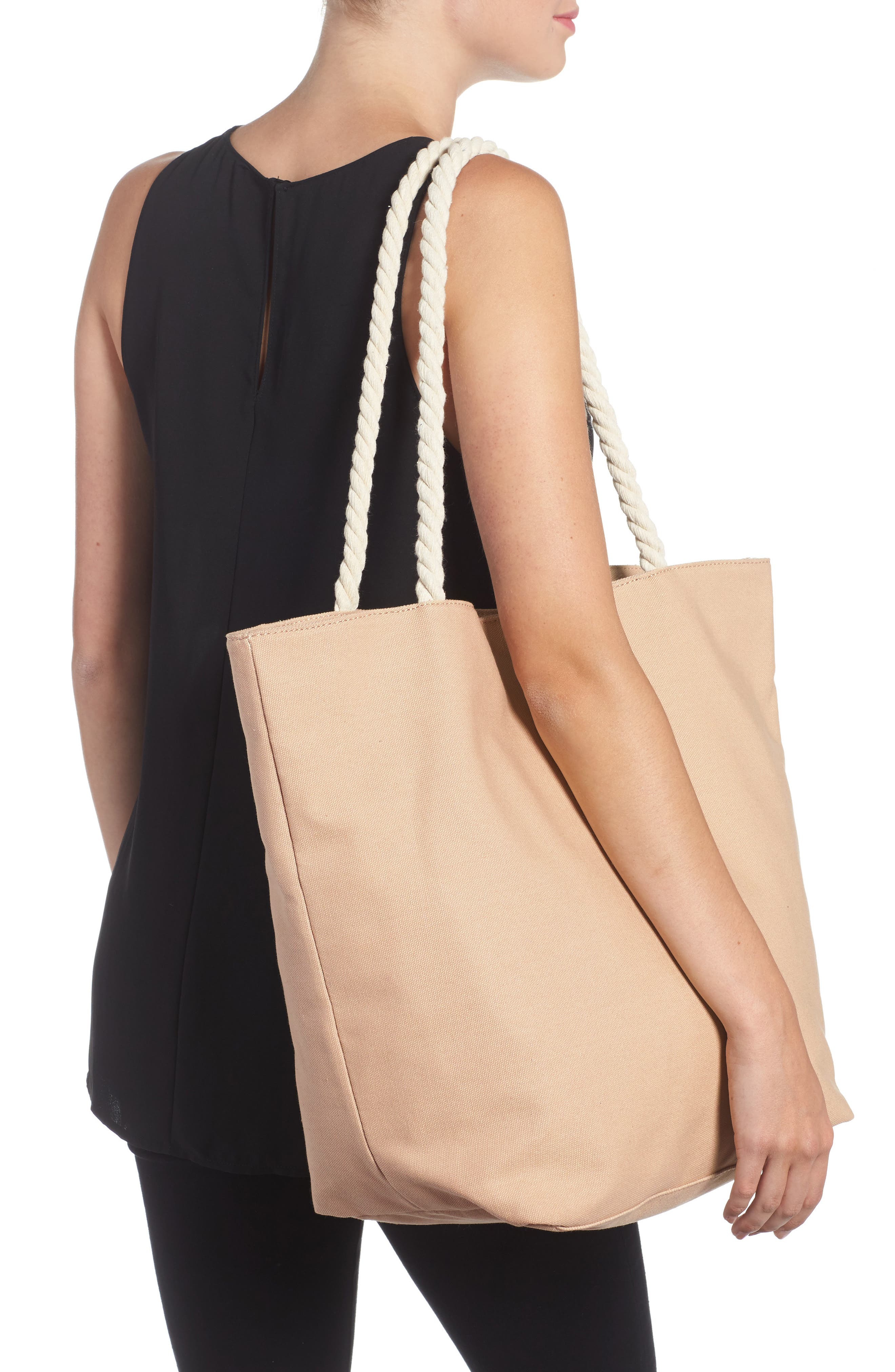 BP.,                             Rope Handle Canvas Tote,                             Alternate thumbnail 2, color,                             250