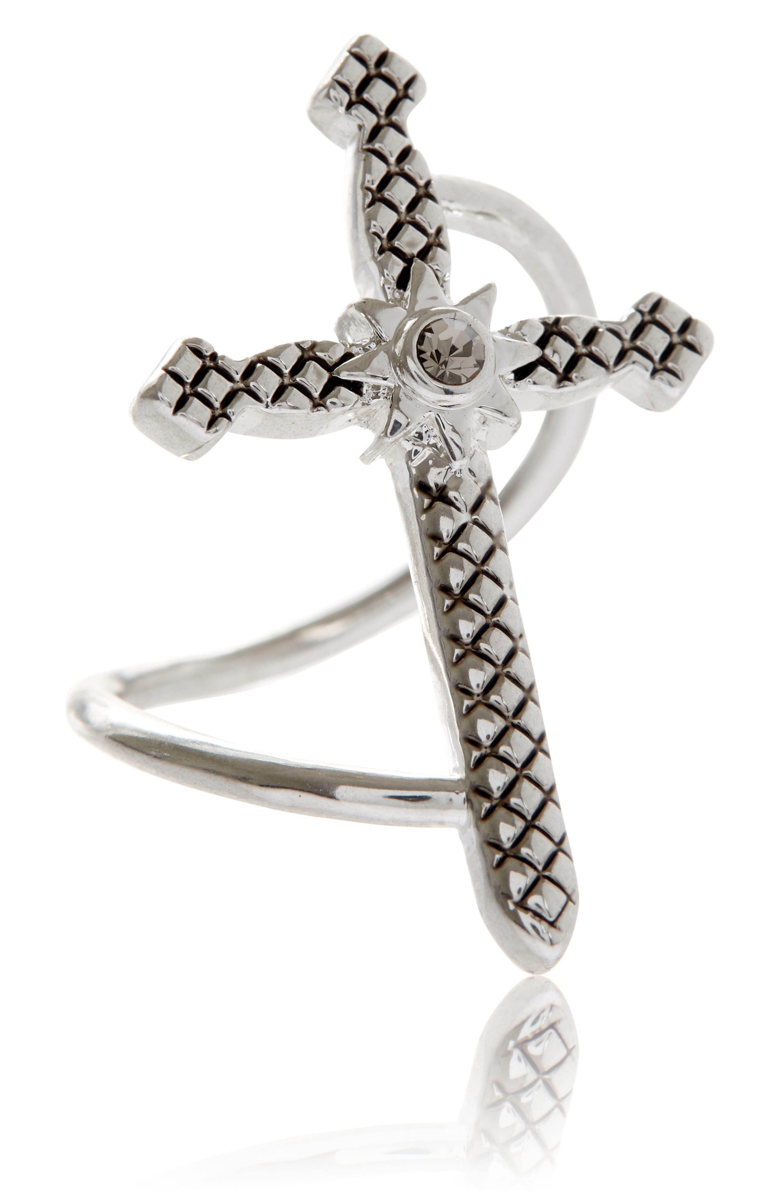 Serpent Cross Ring,                         Main,                         color, 040