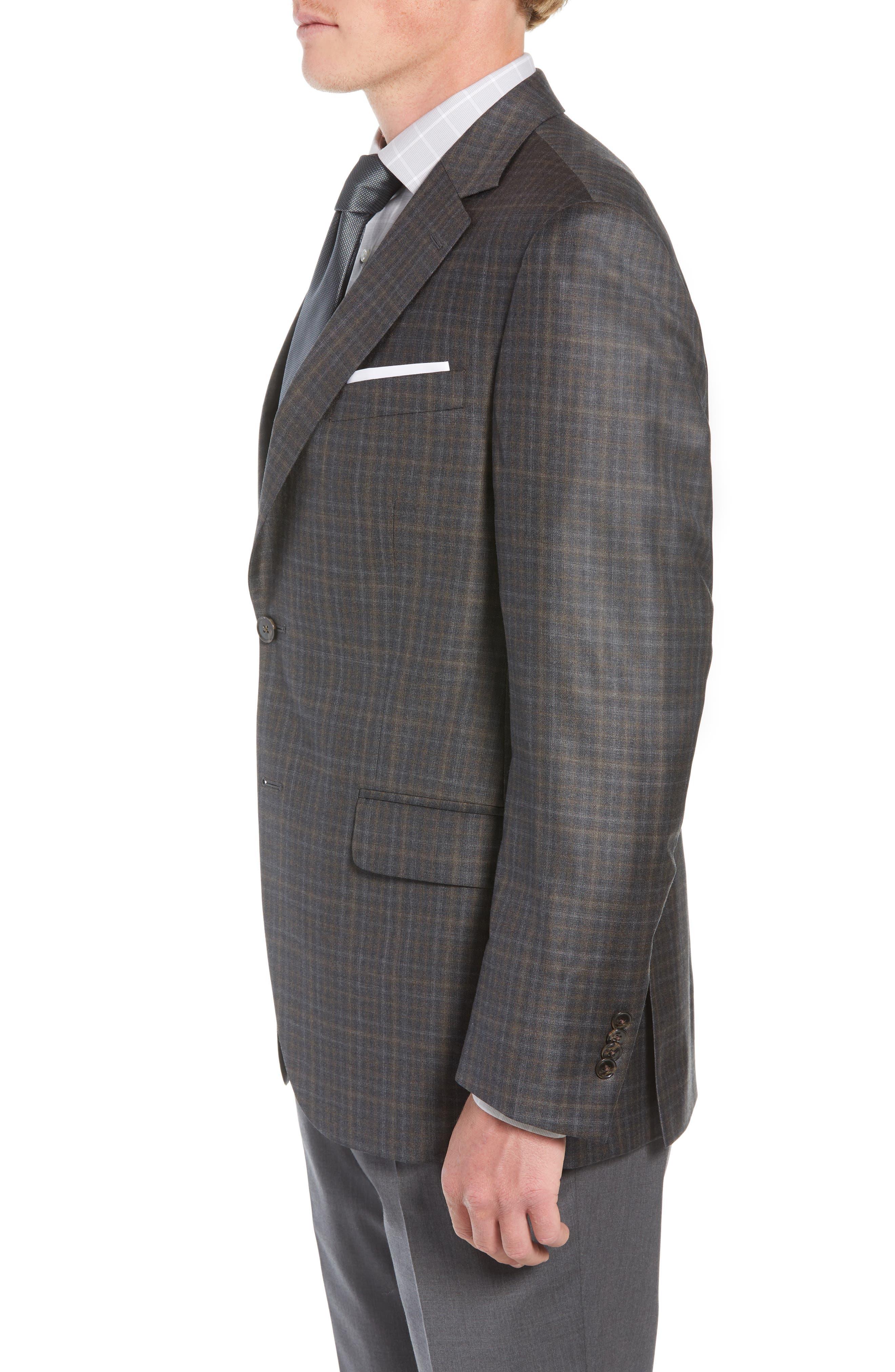 Classic Fit Wool Sport Coat,                             Alternate thumbnail 3, color,                             BROWN
