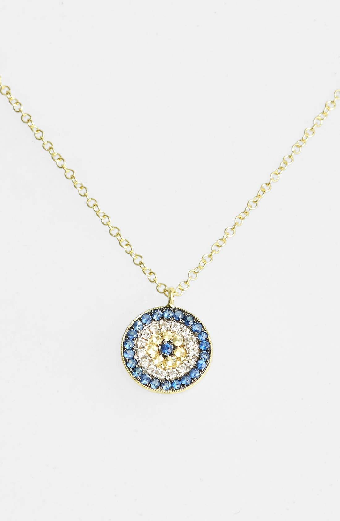 MEIRA T Meirat 'Desert Infusion' Diamond & Sapphire Pendant Necklace in Yellow Gold/ Blue Sapphire