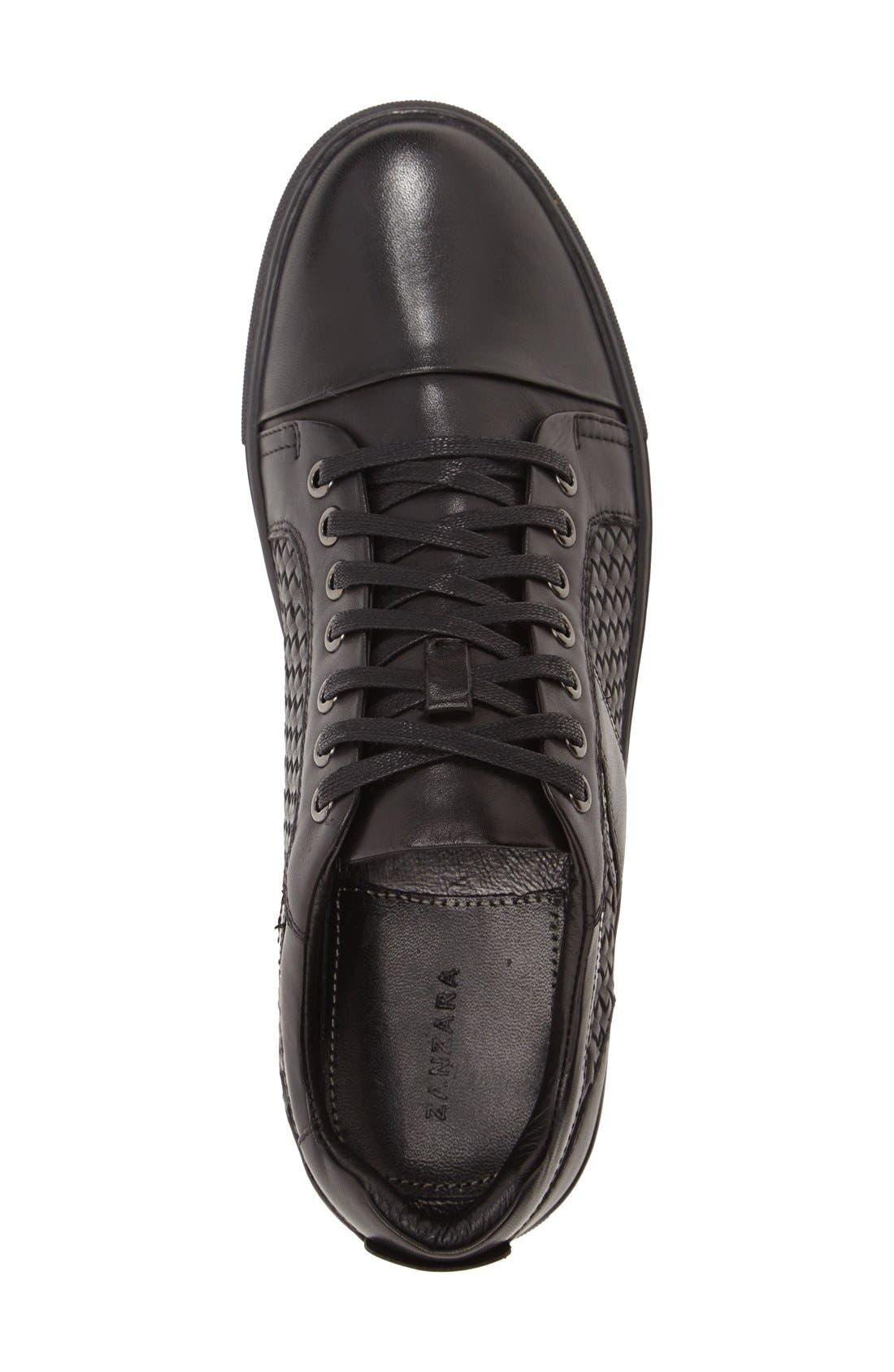 'Rhythm' Woven Sneaker,                             Alternate thumbnail 3, color,                             001