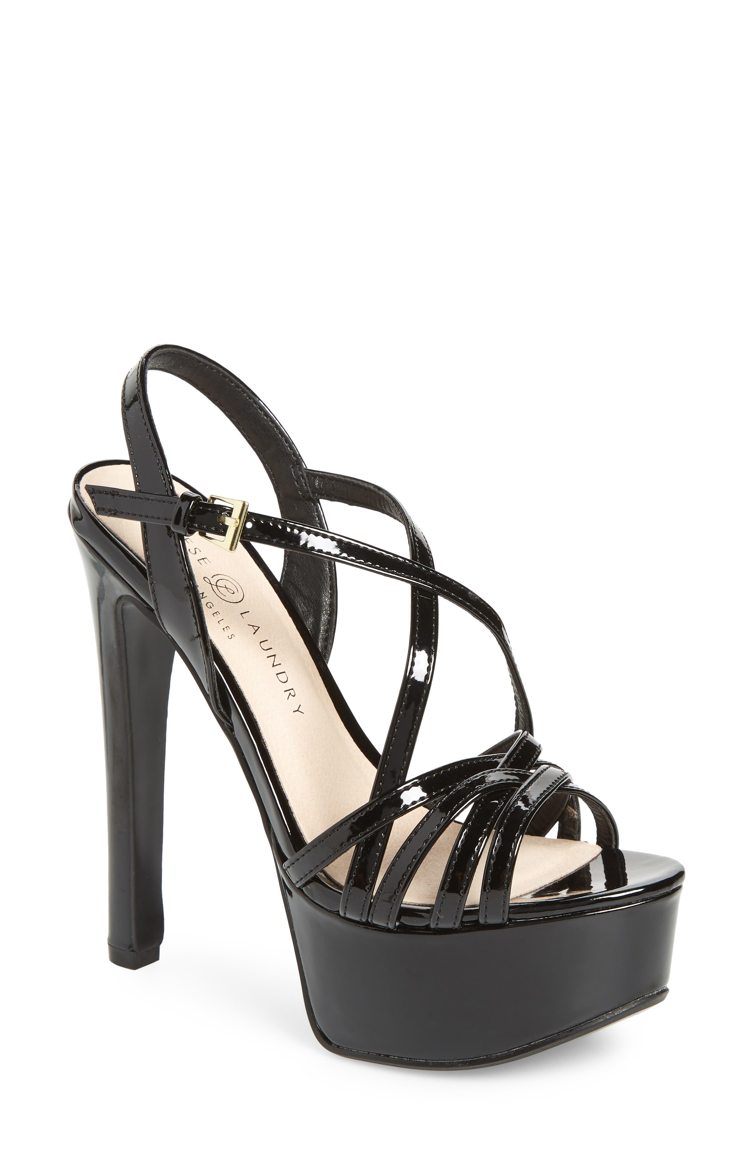Teaser2 Platform Sandal,                         Main,                         color, BLACK PATENT