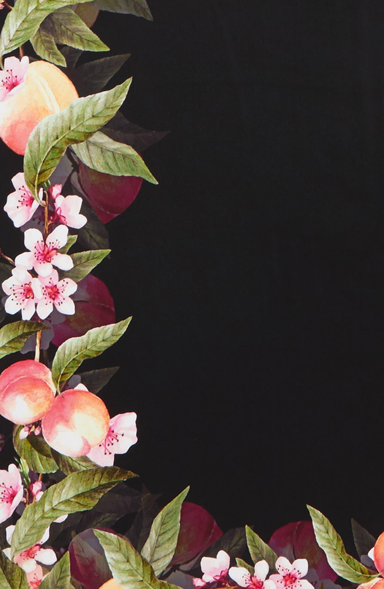 Peach Blossom Silk Scarf,                             Alternate thumbnail 4, color,                             001