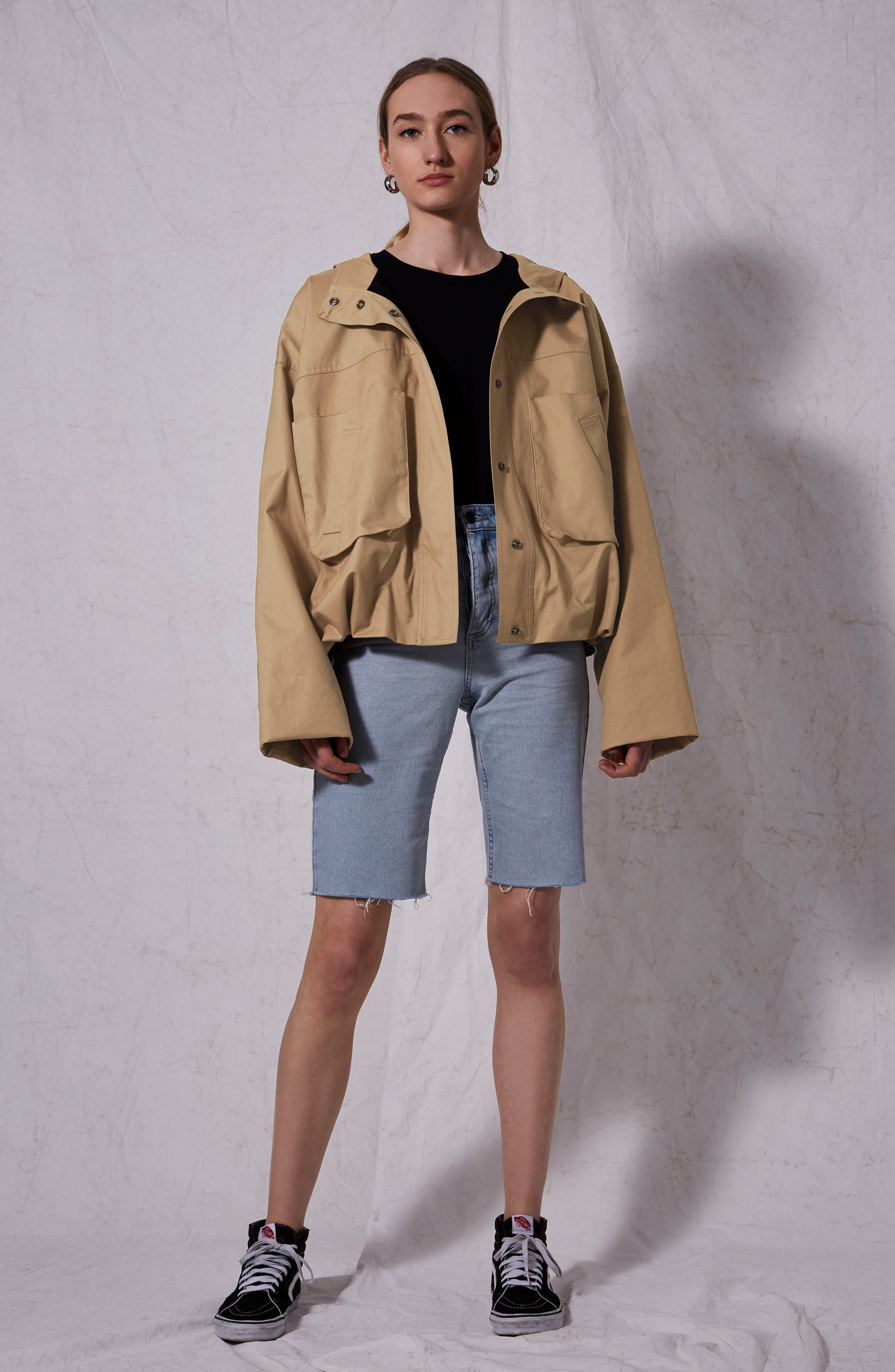 Cropped Parka,                             Alternate thumbnail 5, color,                             250