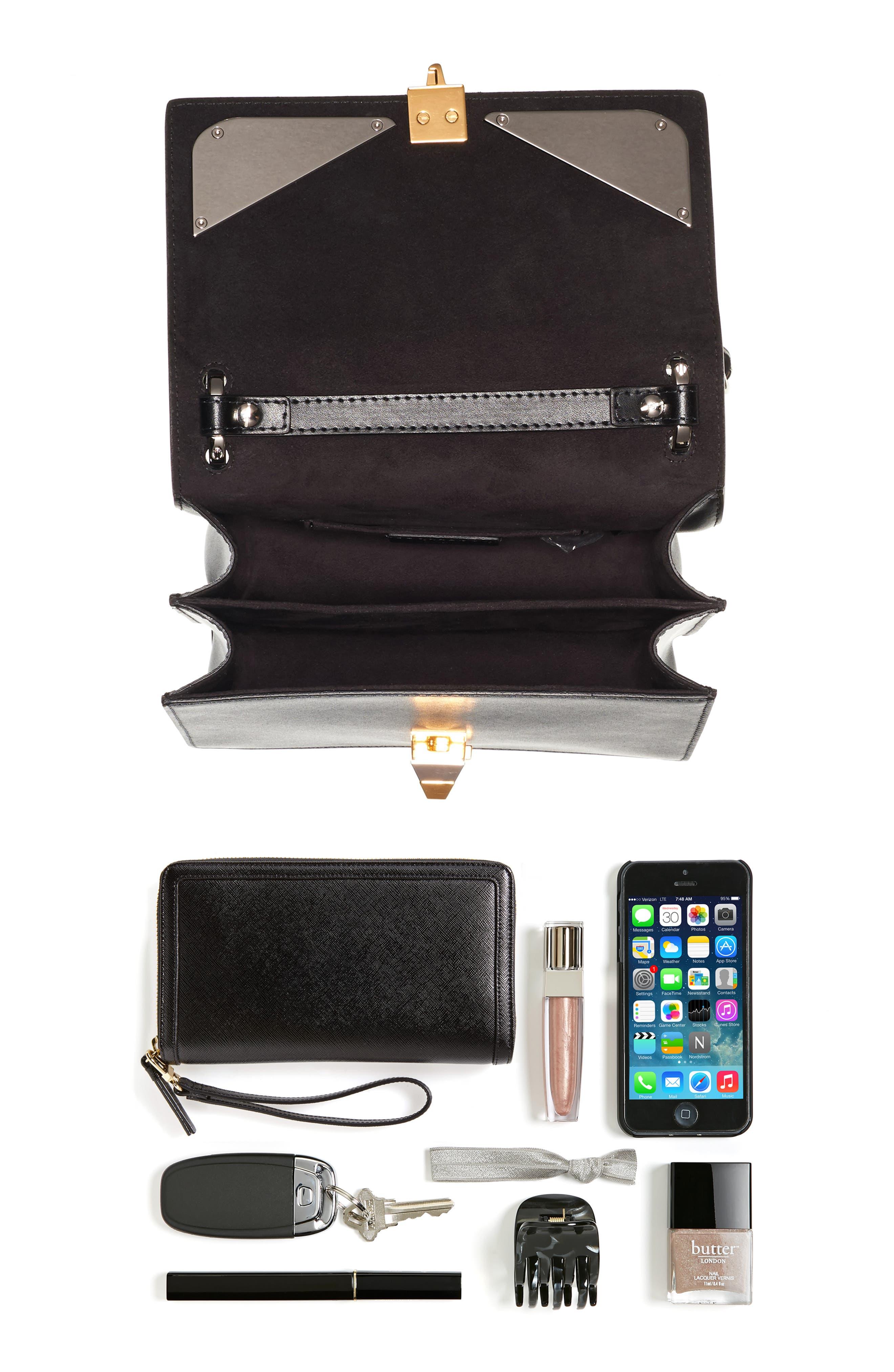 Kan I Monster Leather Shoulder Bag,                             Alternate thumbnail 6, color,                             004