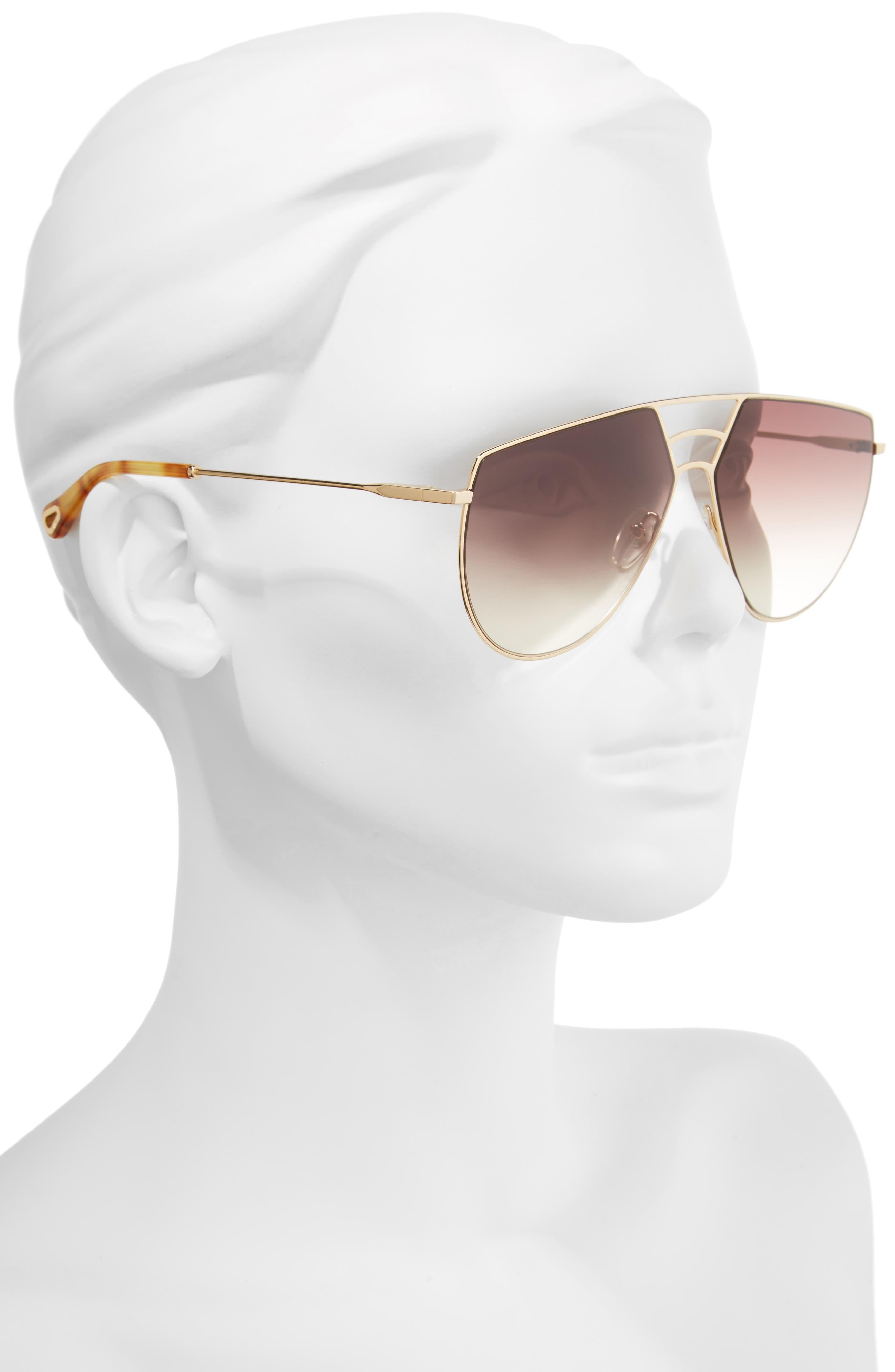 Negative Space 62mm Oversize Aviator Sunglasses,                             Alternate thumbnail 2, color,                             710