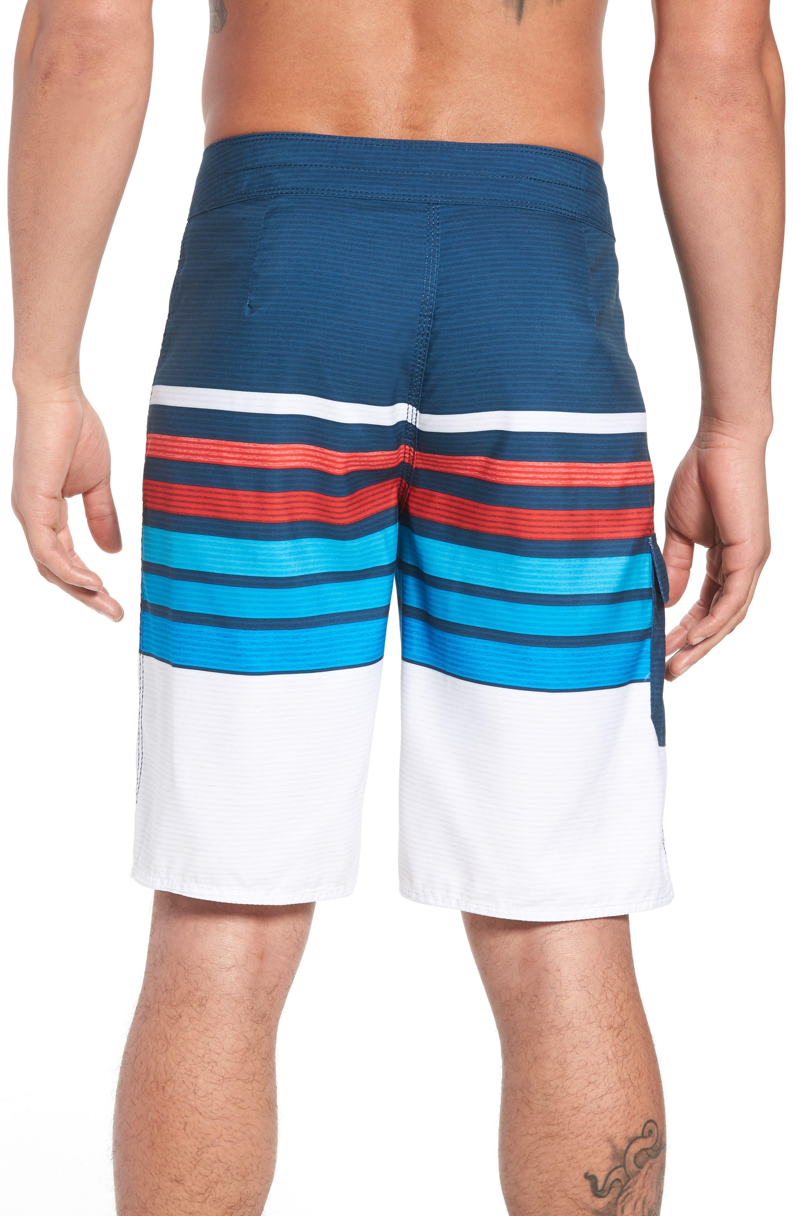All Day OG Stripe Board Shorts,                             Alternate thumbnail 5, color,