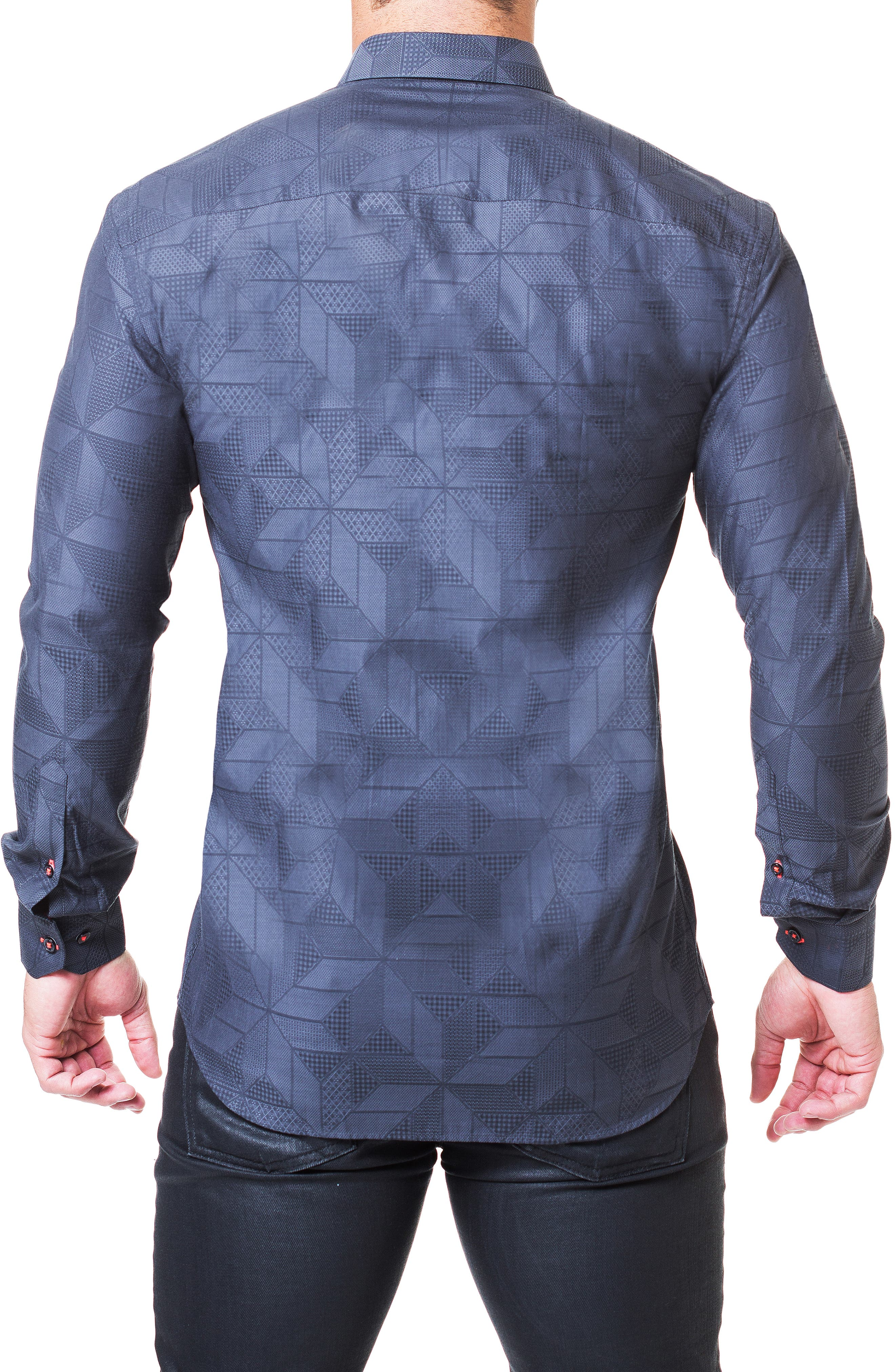 Fibonacci Dimension Regular Fit Sport Shirt,                             Alternate thumbnail 2, color,                             GREY