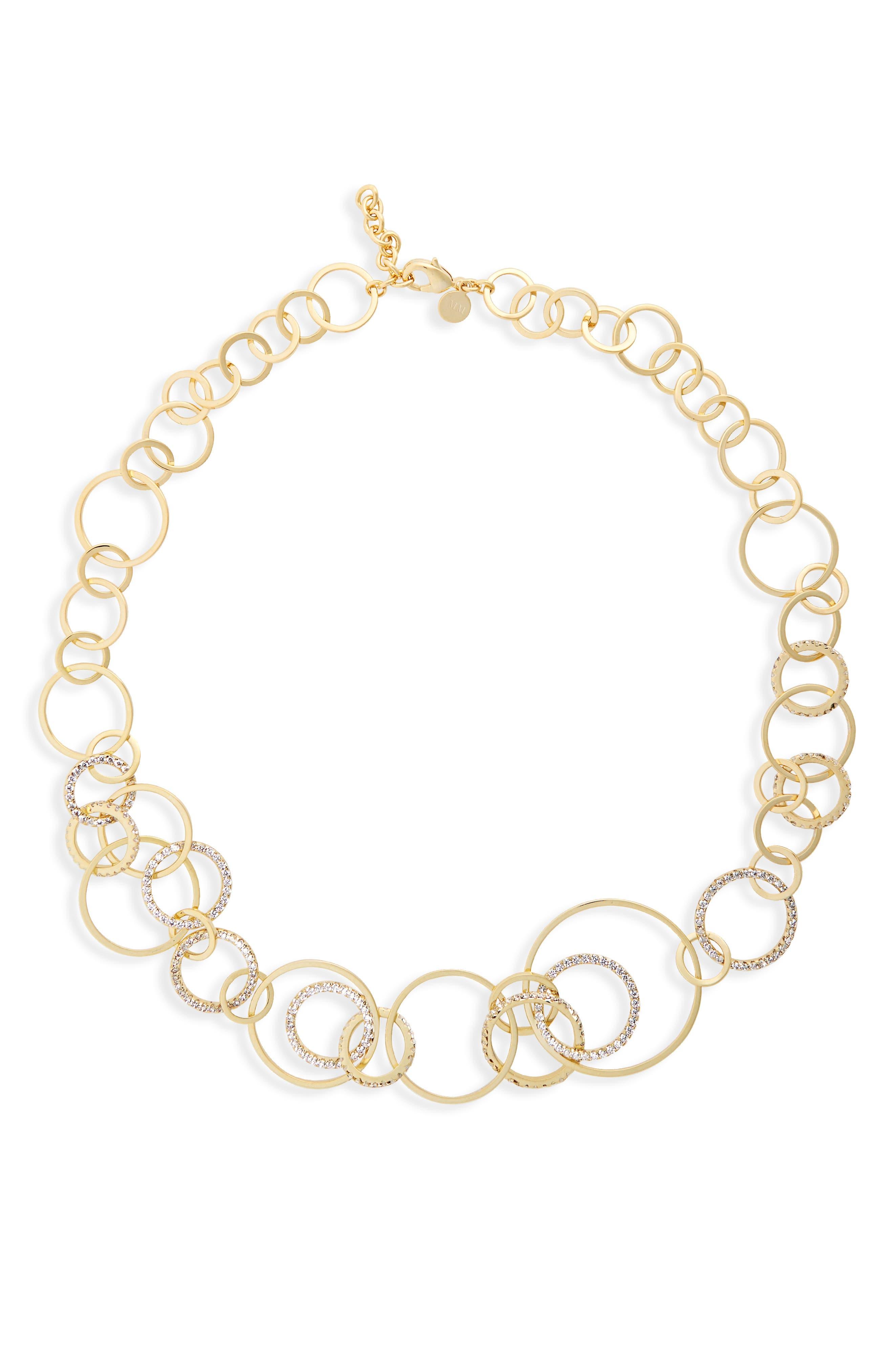 Sarah Cubic Zirconia Collar Necklace,                             Main thumbnail 2, color,