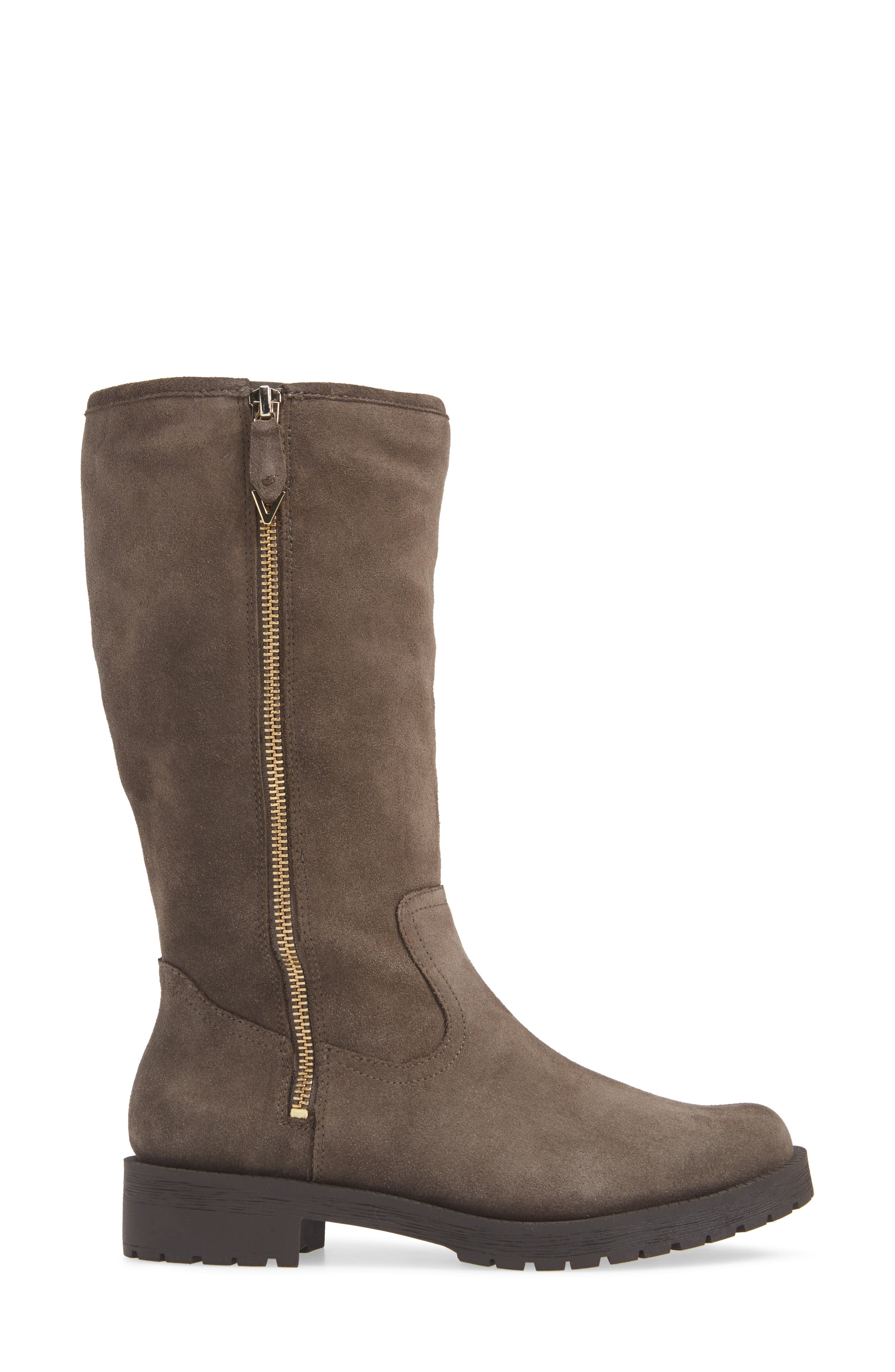 Mica Boot,                             Alternate thumbnail 3, color,                             GREIGE SUEDE