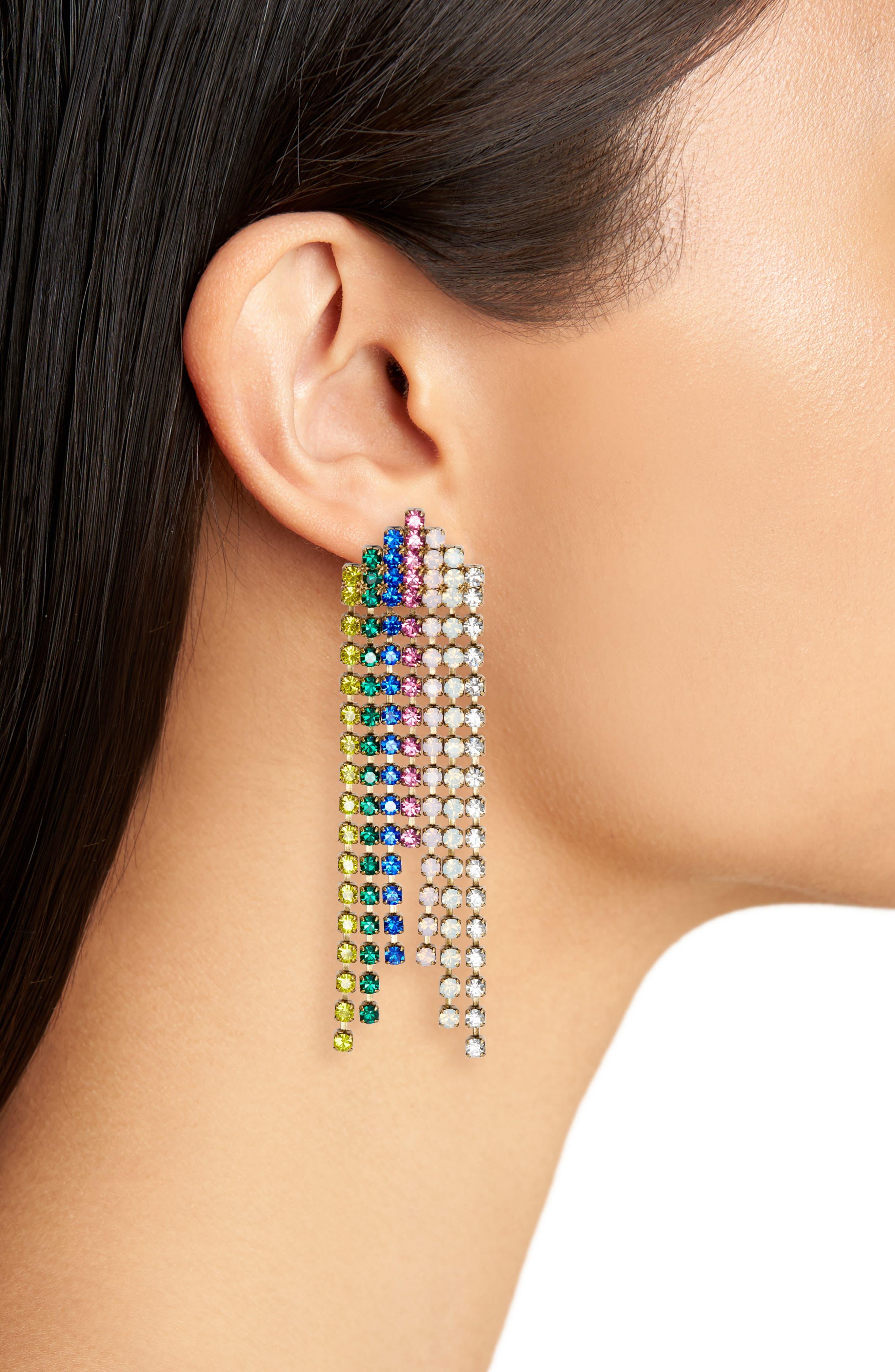 Marissa Crystal Drop Earrings,                             Alternate thumbnail 4, color,