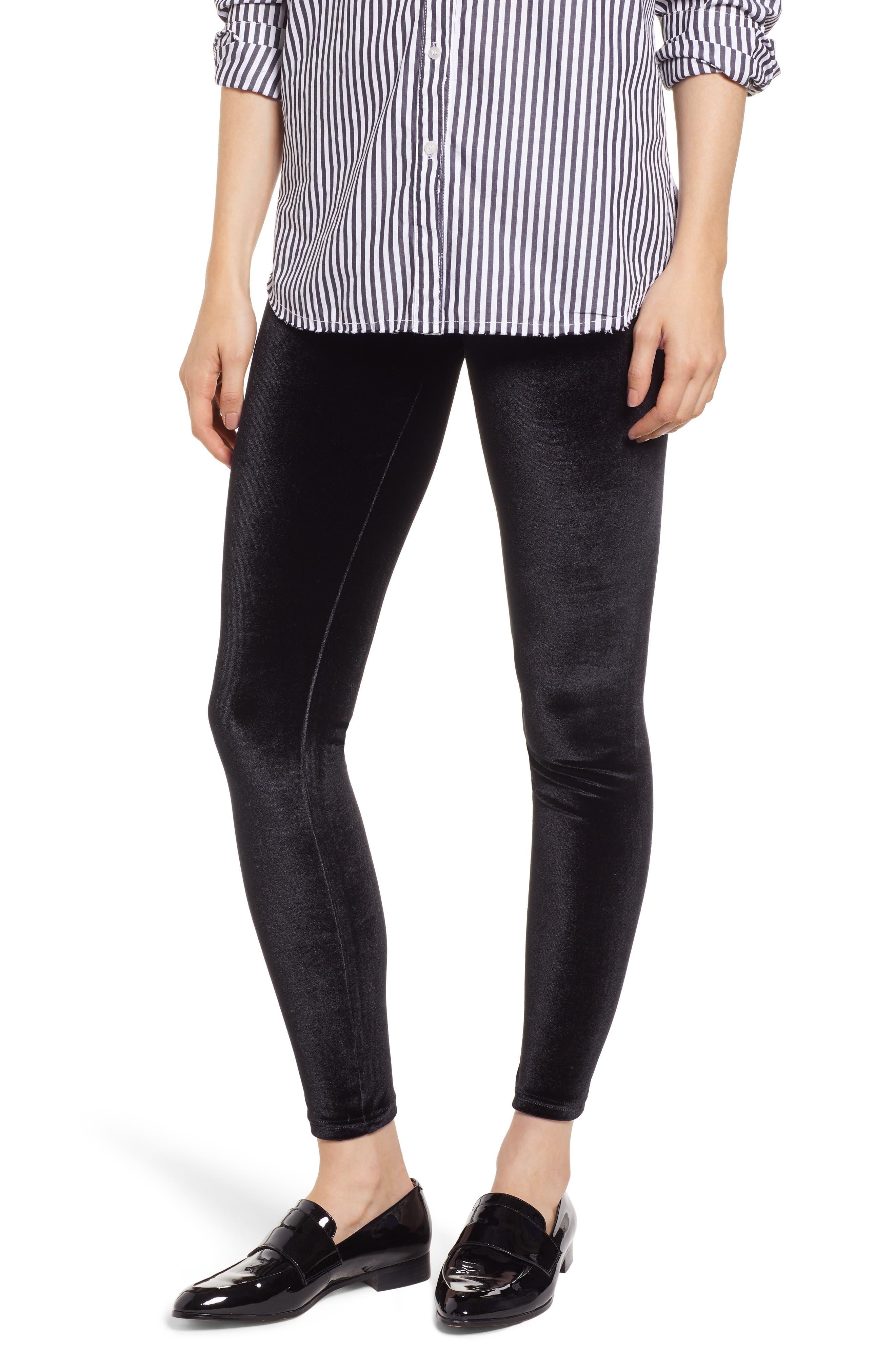 Hue Velvet Leggings, Black