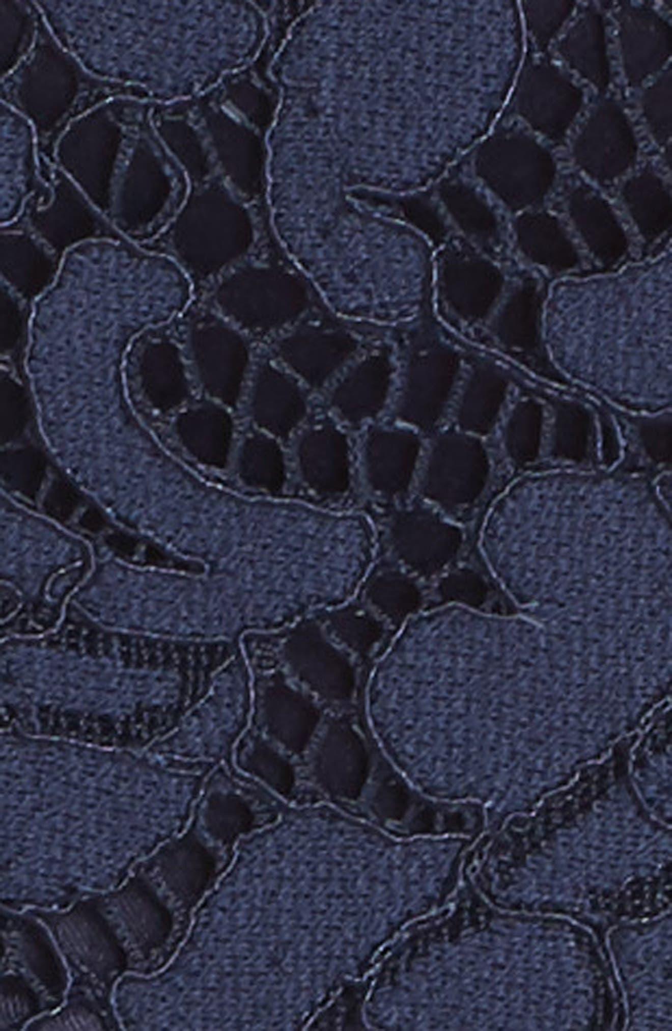 Fit & Flare Lace Dress,                             Alternate thumbnail 5, color,                             410