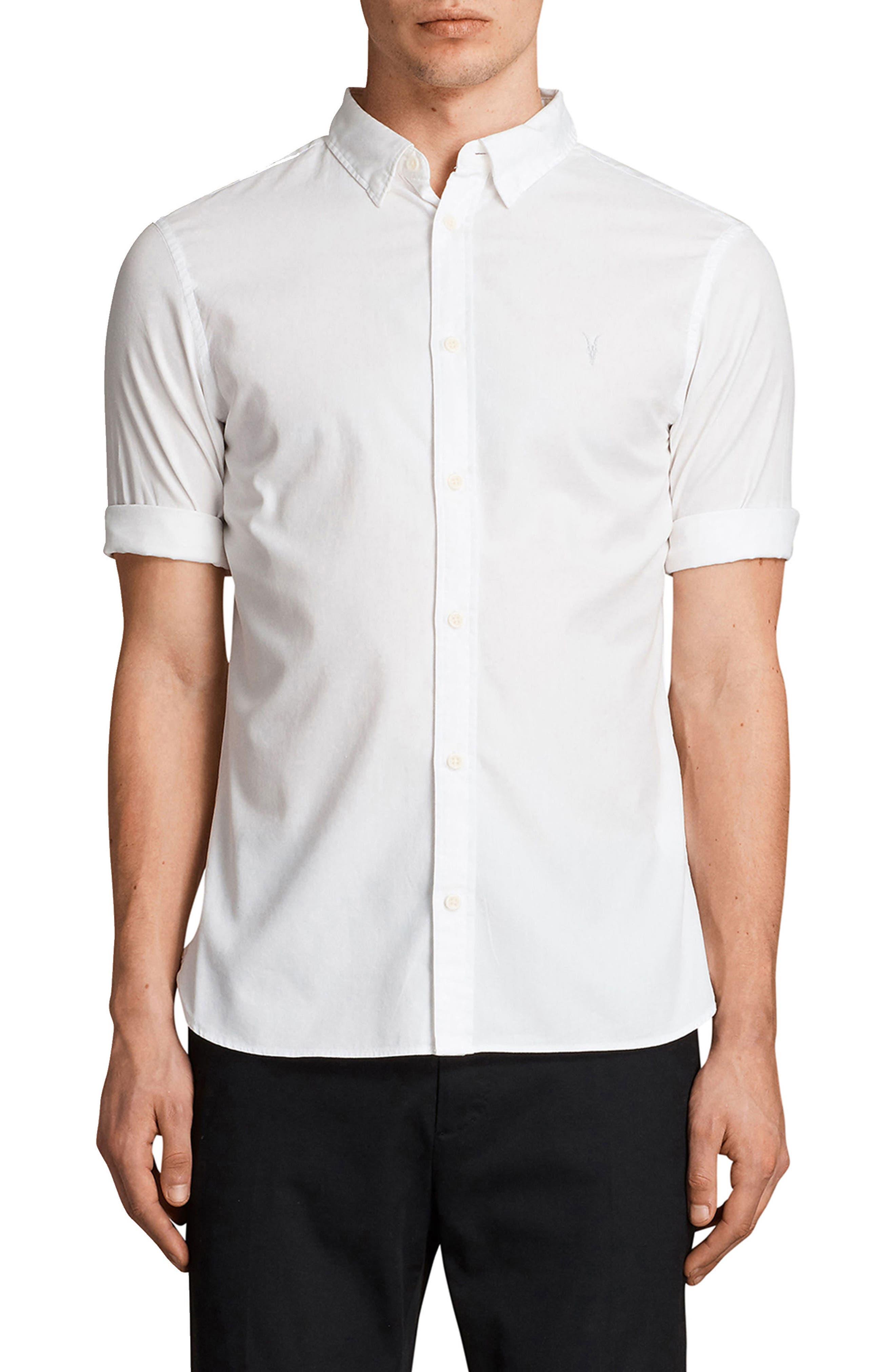 Redondo Slim Fit Sport Shirt,                         Main,                         color, WHITE