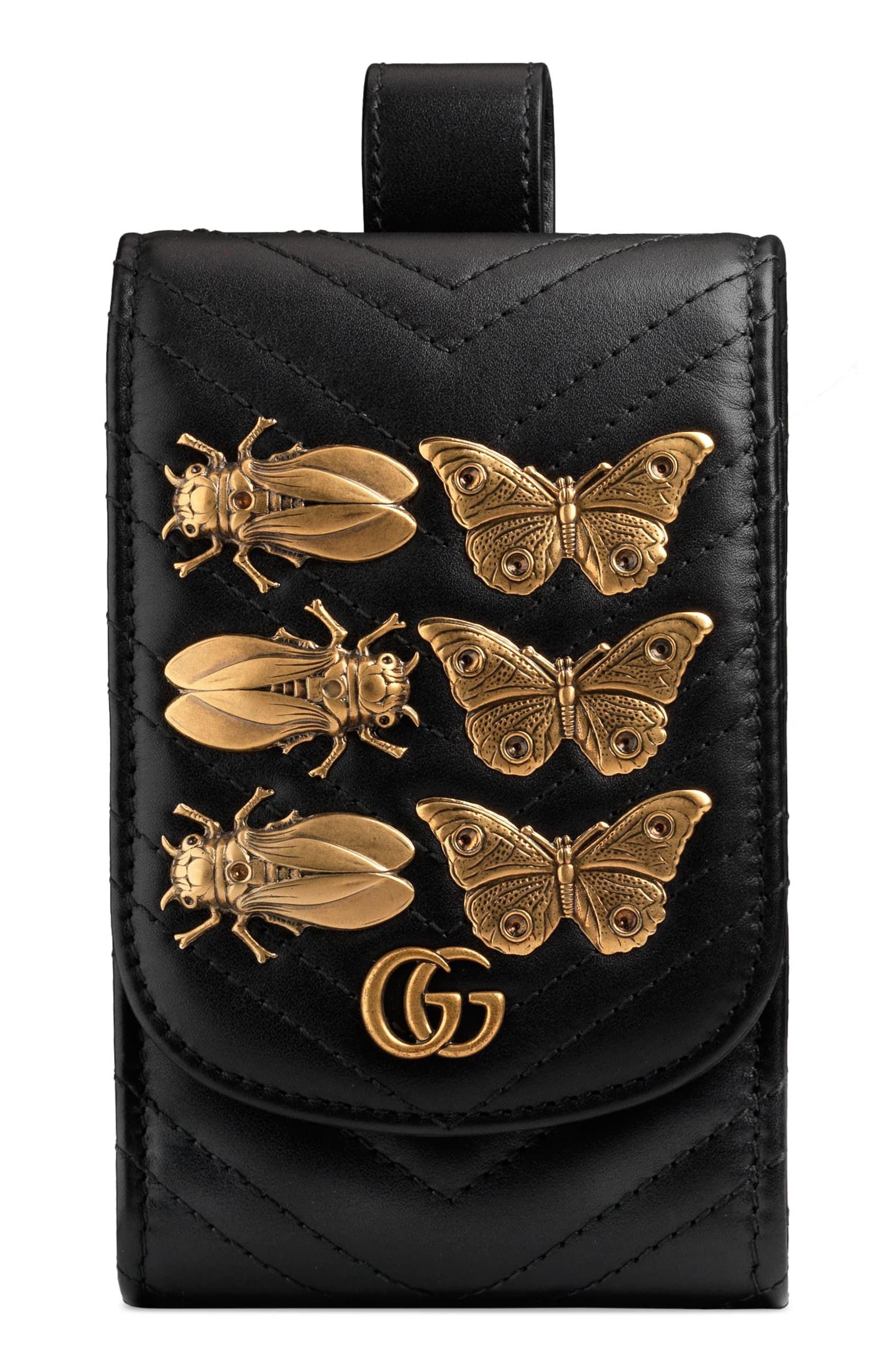 GG Marmont 2.0 Matelassé Leather Phone Case,                             Main thumbnail 1, color,