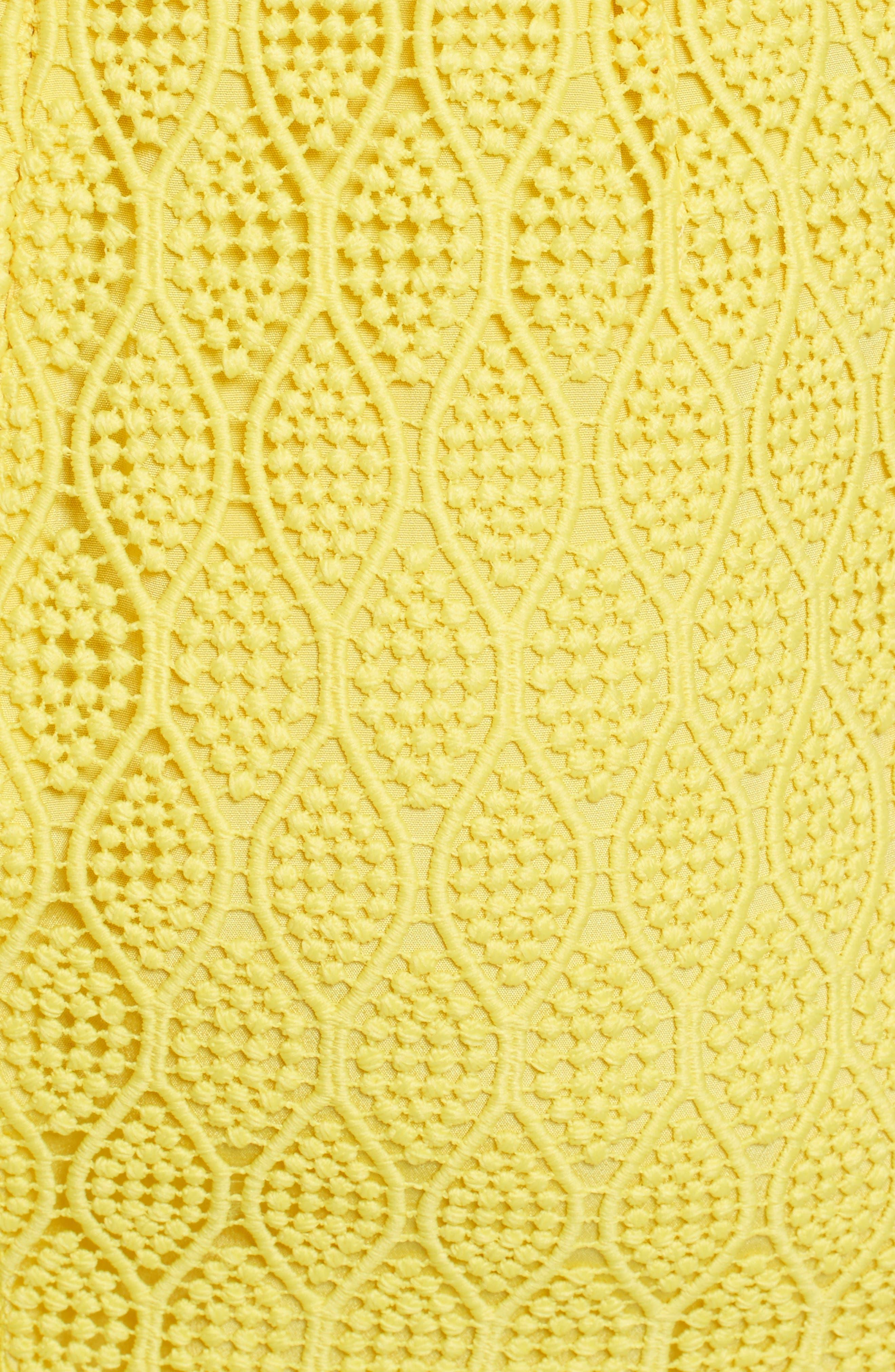 Lace Midi Sheath Dress,                             Alternate thumbnail 5, color,                             732