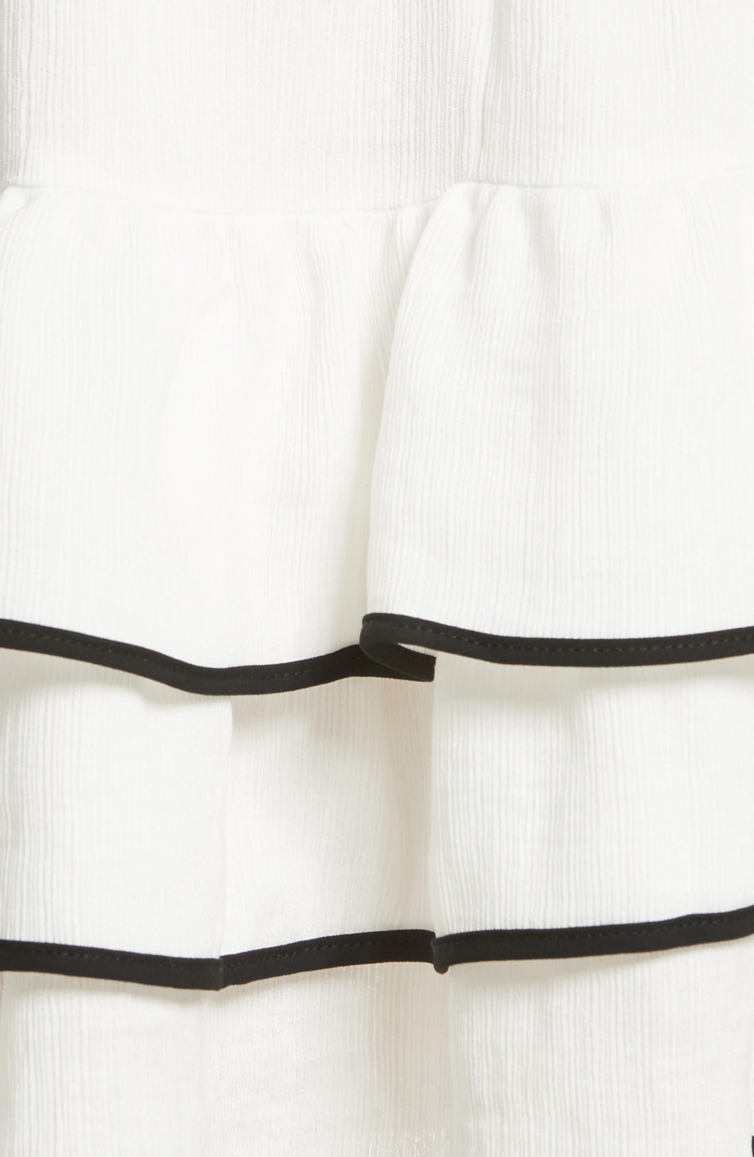 Prose & Poetry Carice Ruffle Miniskirt,                             Alternate thumbnail 5, color,                             101