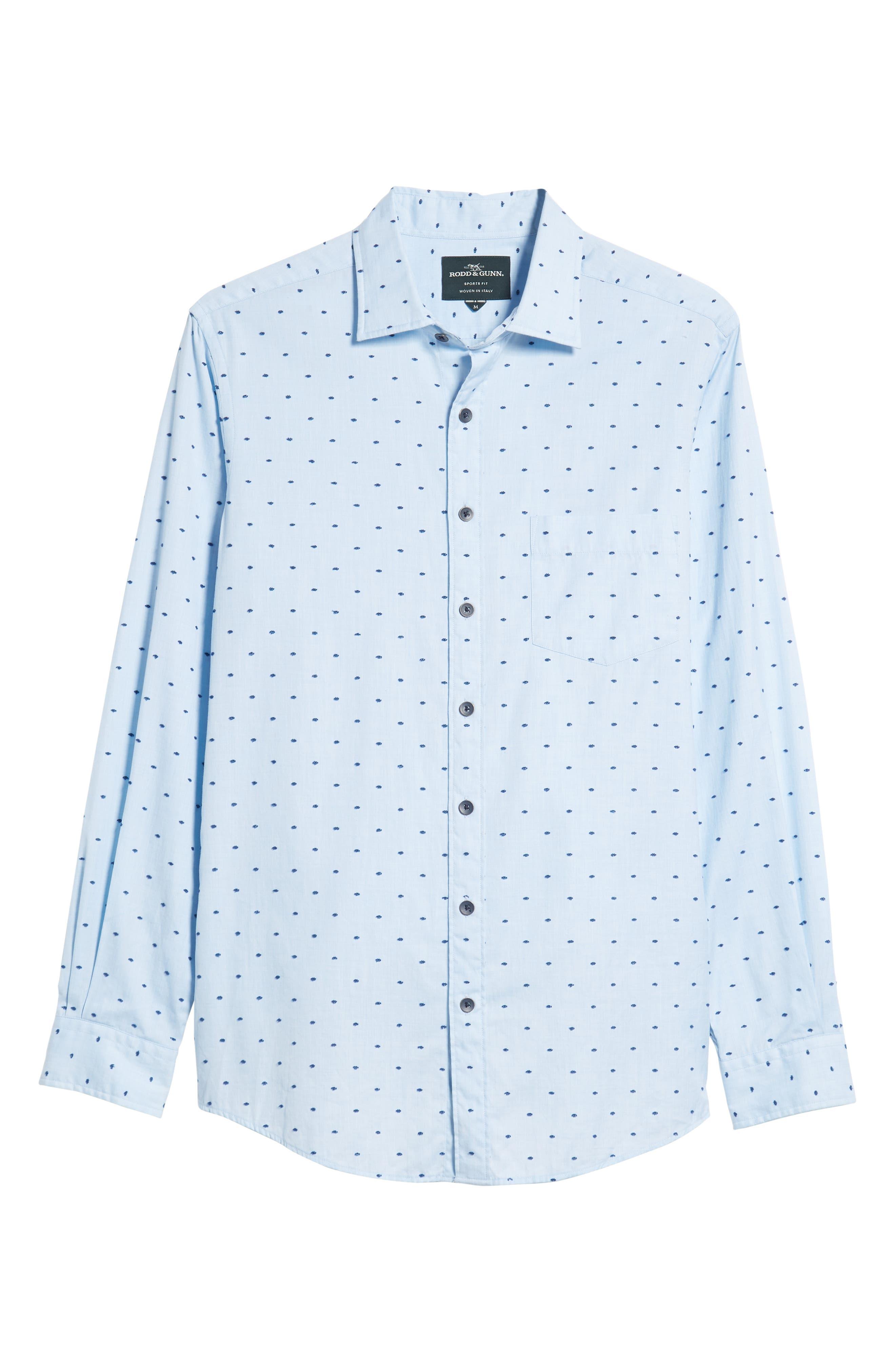 Fraser Road Regular Fit Dot Sport Shirt,                             Alternate thumbnail 5, color,                             459