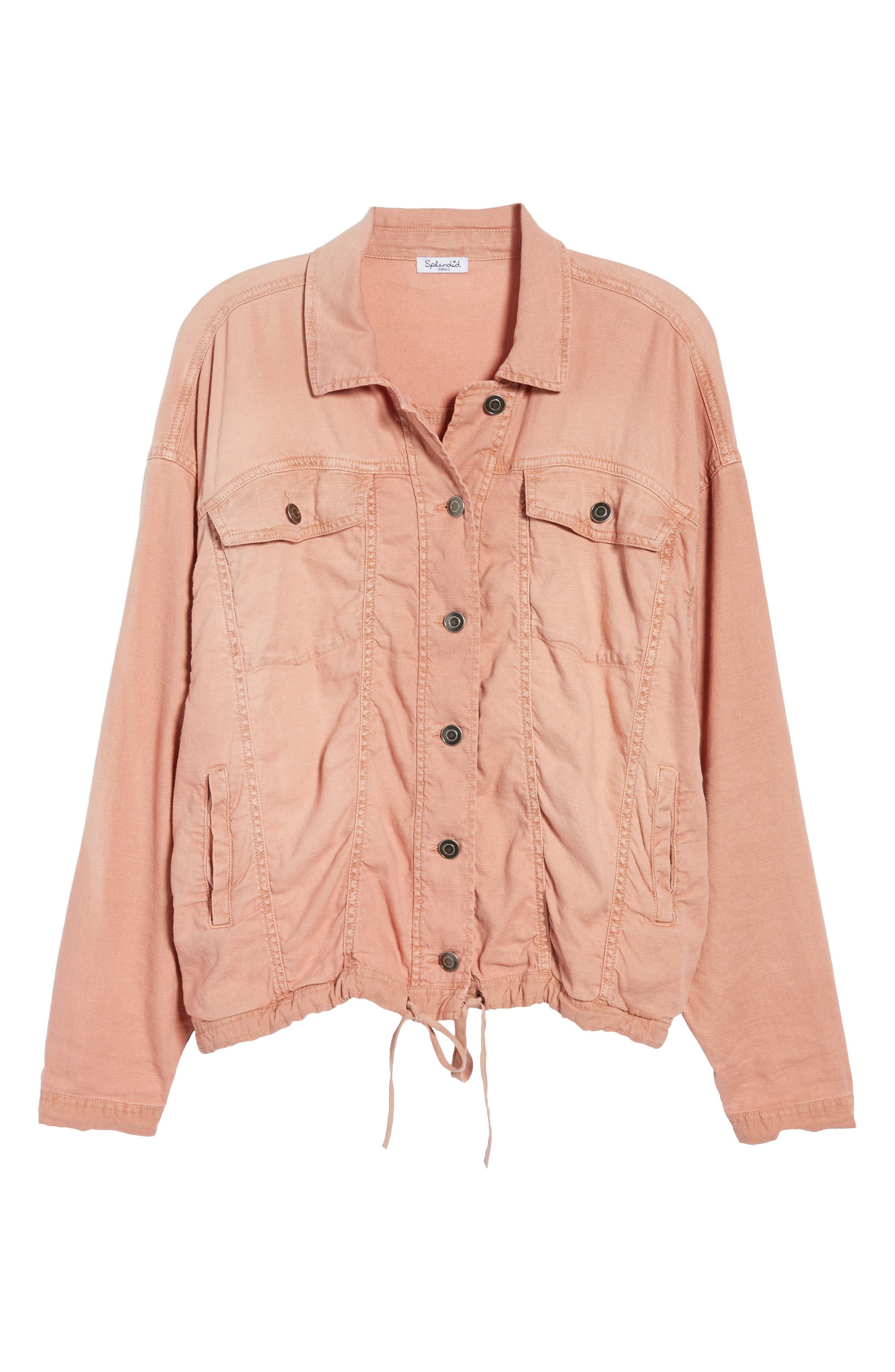 Linen Blend Drape Jacket,                             Alternate thumbnail 10, color,