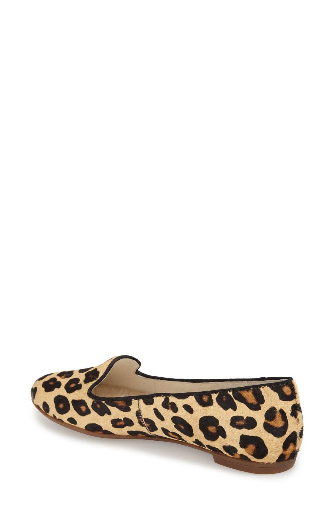 'Blyss' Leopard Spot Calf Hair Flat,                             Alternate thumbnail 2, color,                             200