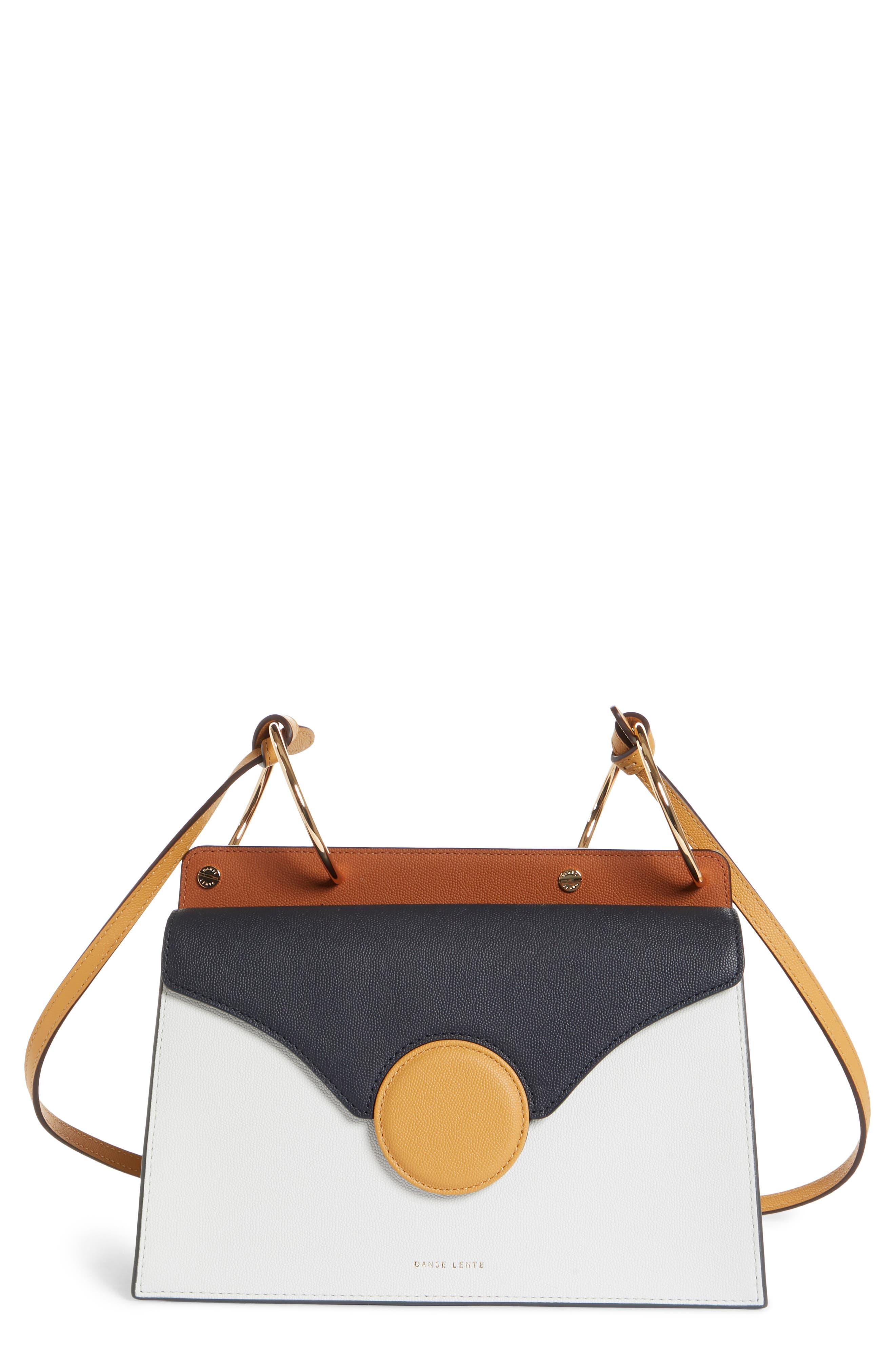 Phoebe Leather Crossbody Bag,                         Main,                         color, MARINE/ SAND