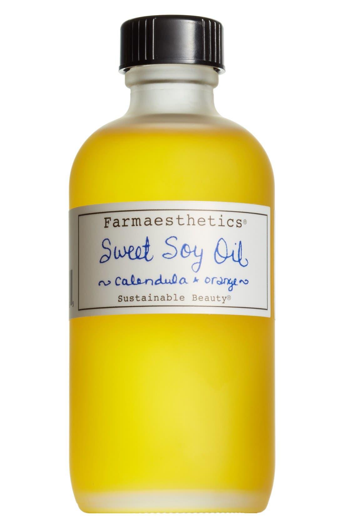 Calendula & Orange Sweet Soy Bath & Beauty Oil,                             Main thumbnail 1, color,                             NO COLOR