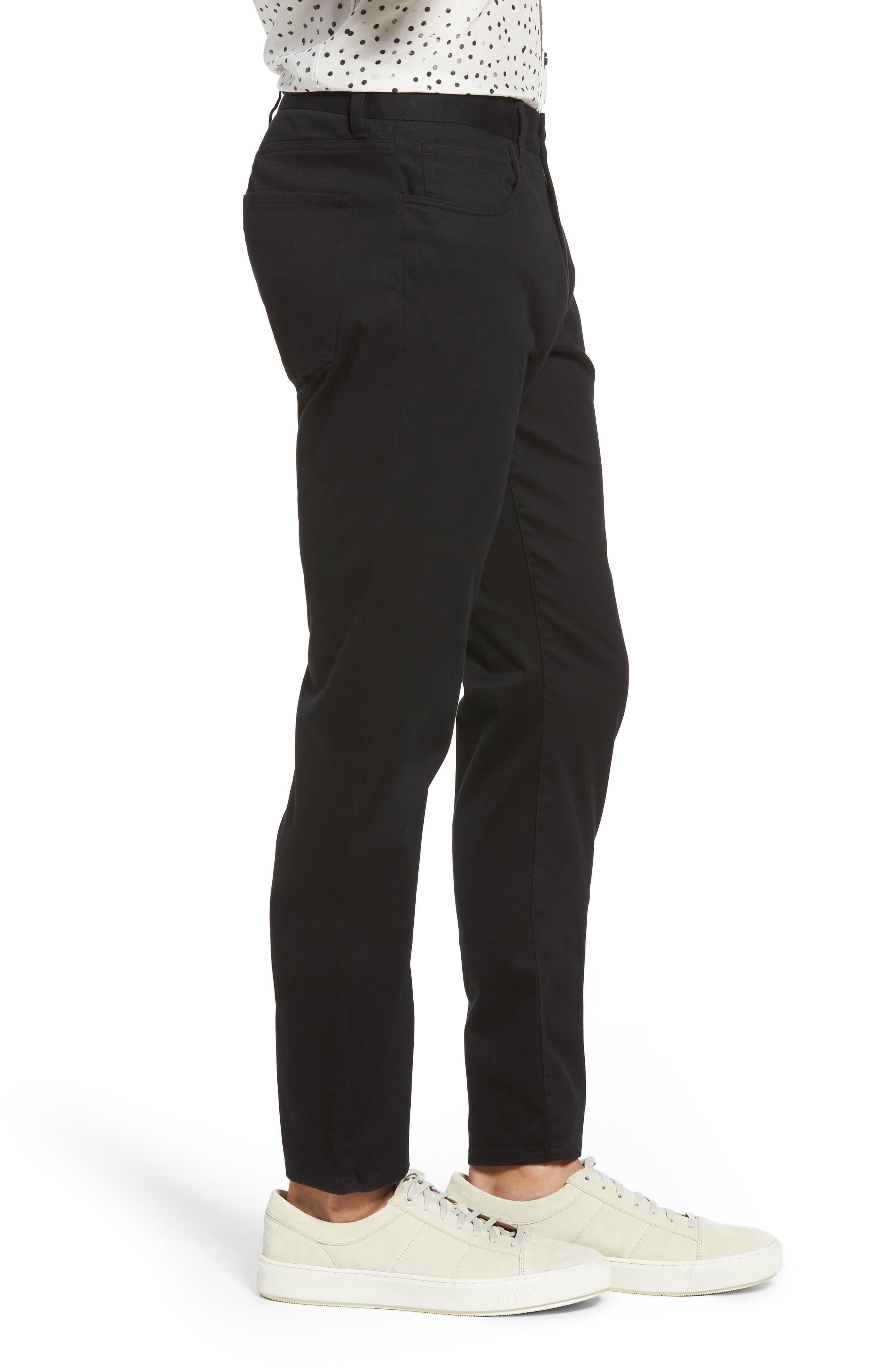 VINCE,                             Soho Slim Fit Five-Pocket Pants,                             Alternate thumbnail 3, color,                             001