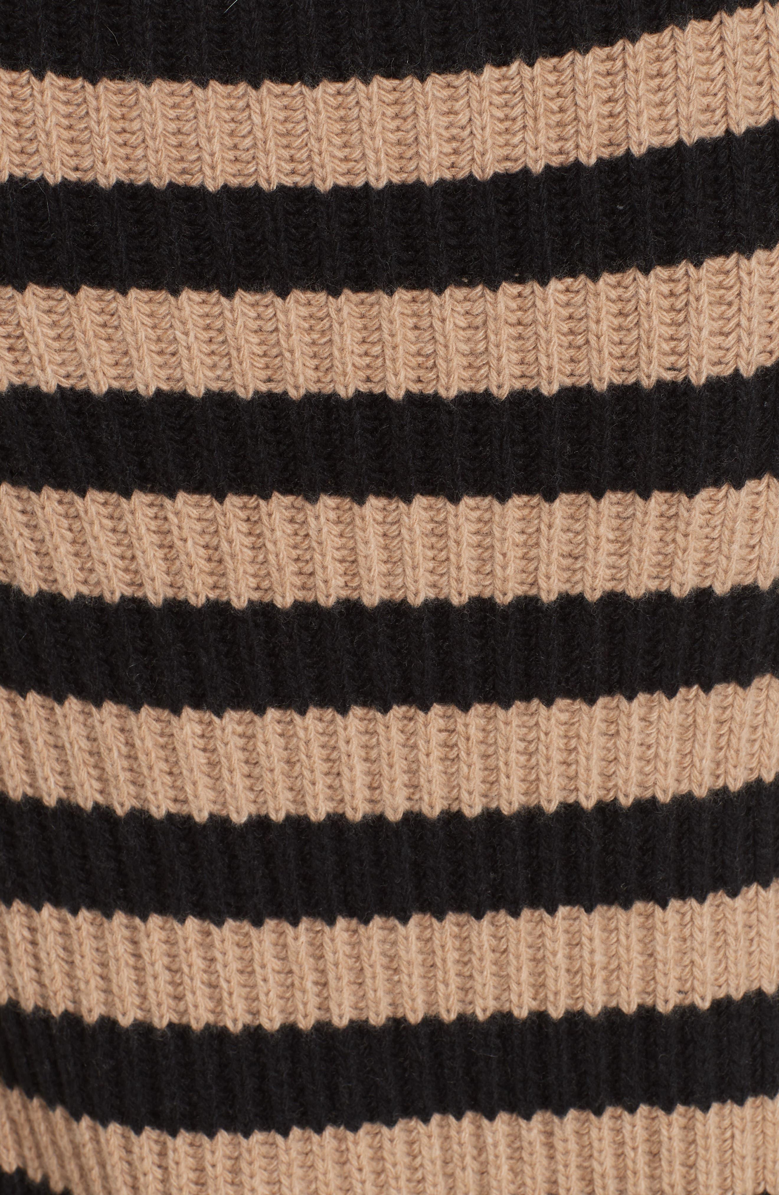 Salpa Stripe Wool & Cashmere Pullover,                             Alternate thumbnail 5, color,                             STRIPED CAMEL