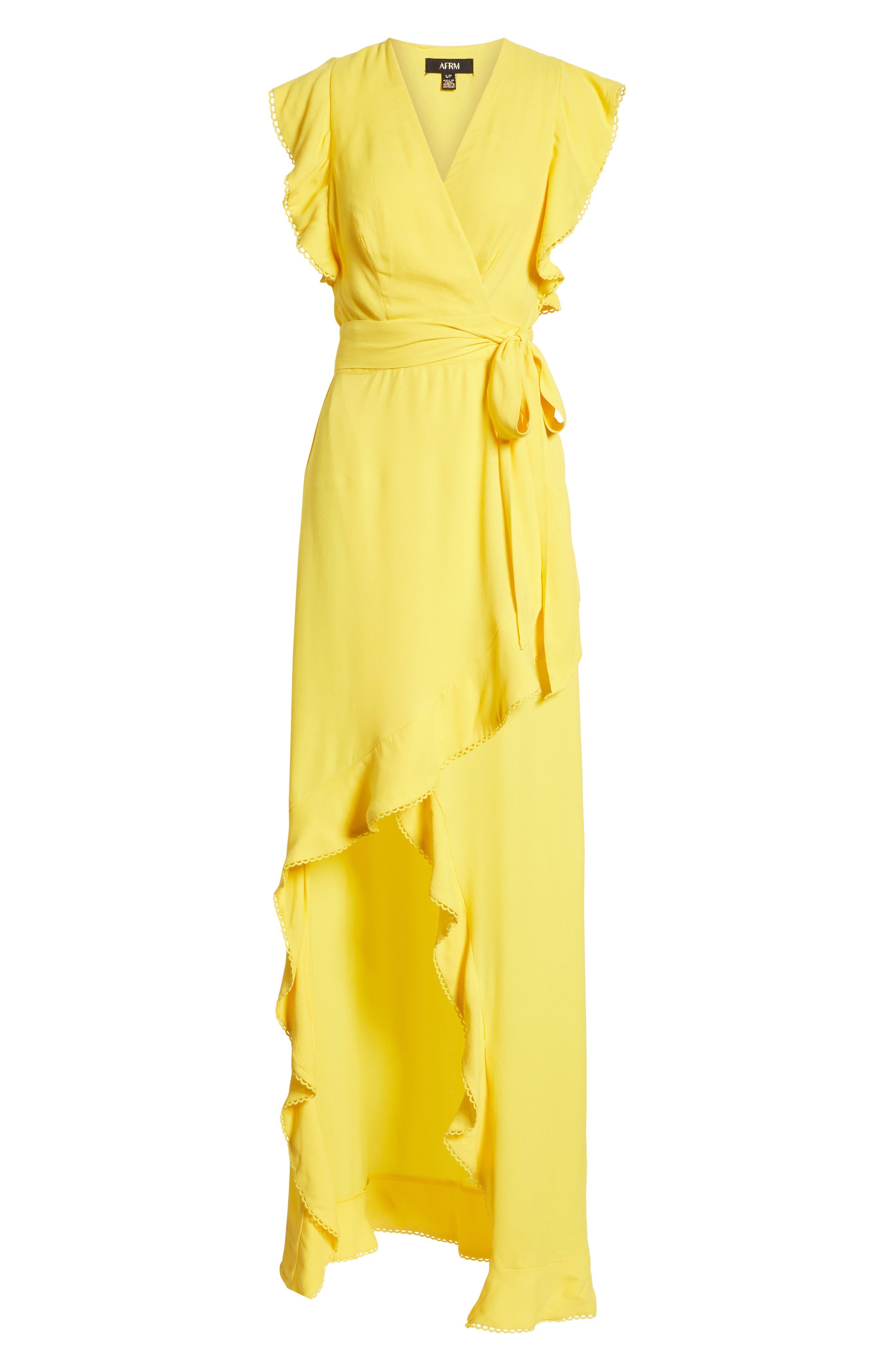 Andrea Ruffle Wrap Dress,                             Alternate thumbnail 19, color,