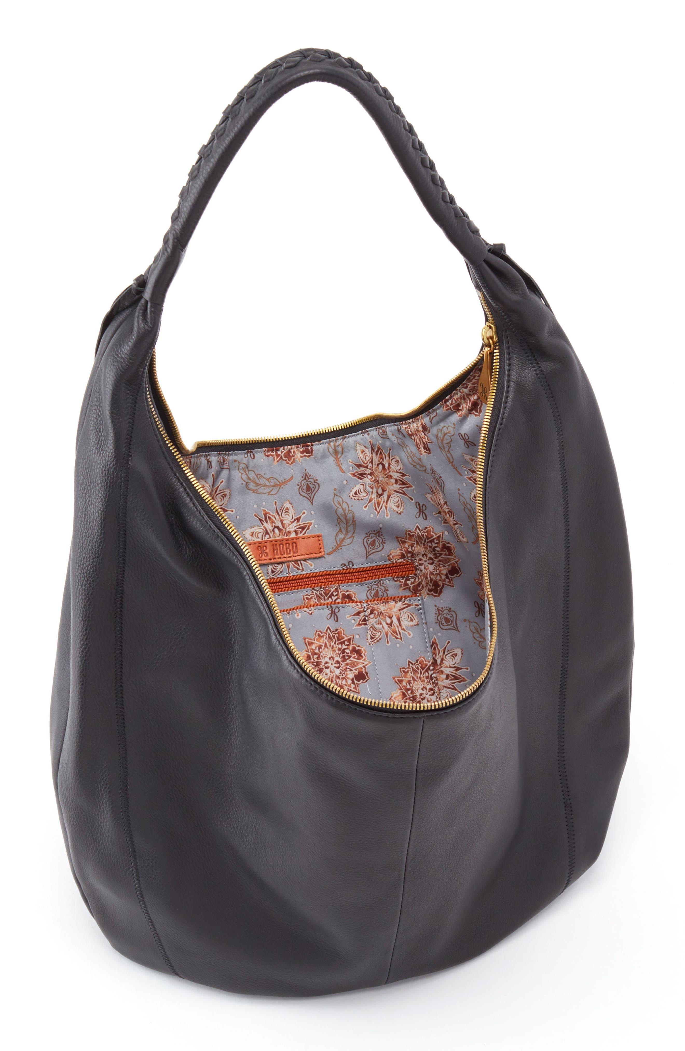 Kindred Leather Shoulder Bag,                             Alternate thumbnail 3, color,                             001