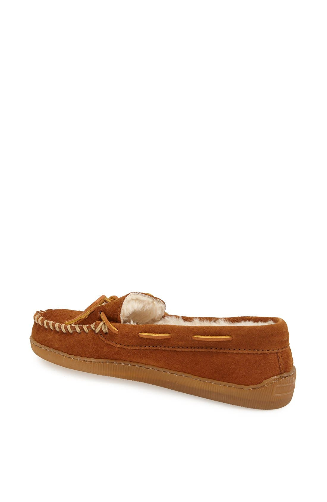 Moccasin Slipper,                             Alternate thumbnail 3, color,                             BROWN