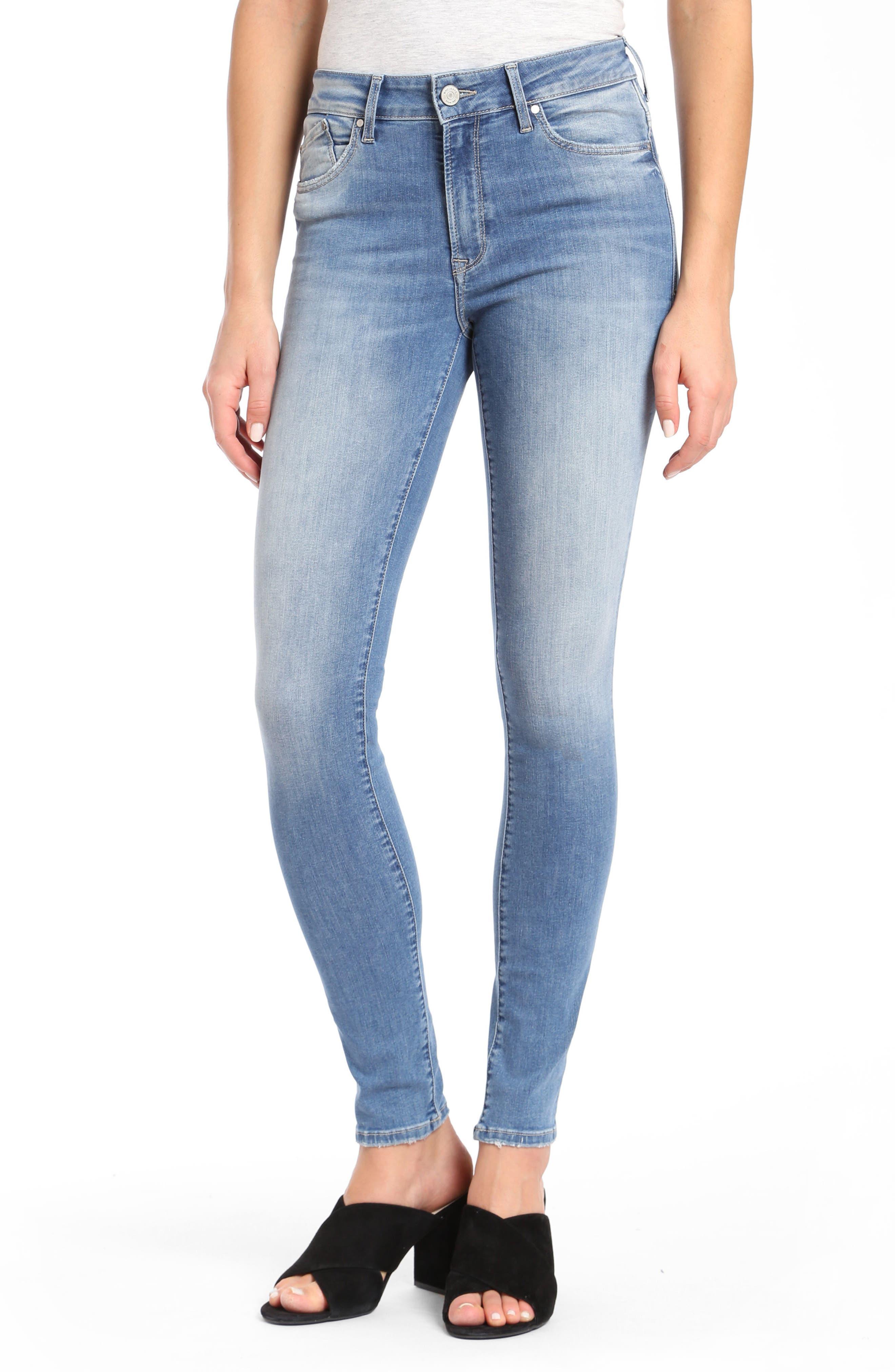 Mavi Alissa Super Skinny Jeans,                             Main thumbnail 1, color,                             INDIGO SHADED NOLITA
