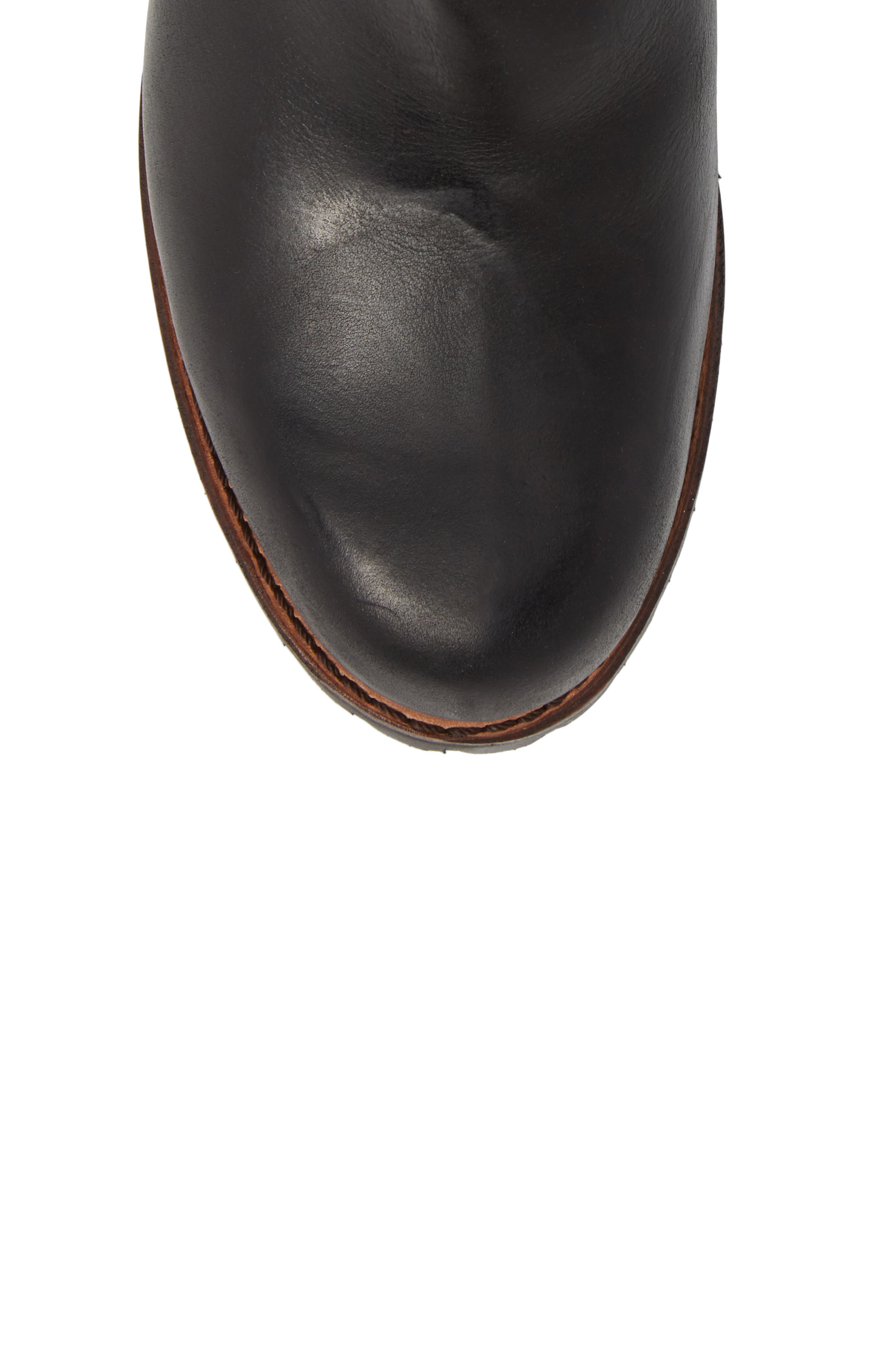 Addison Waterproof Engineer Boot,                             Alternate thumbnail 5, color,                             001
