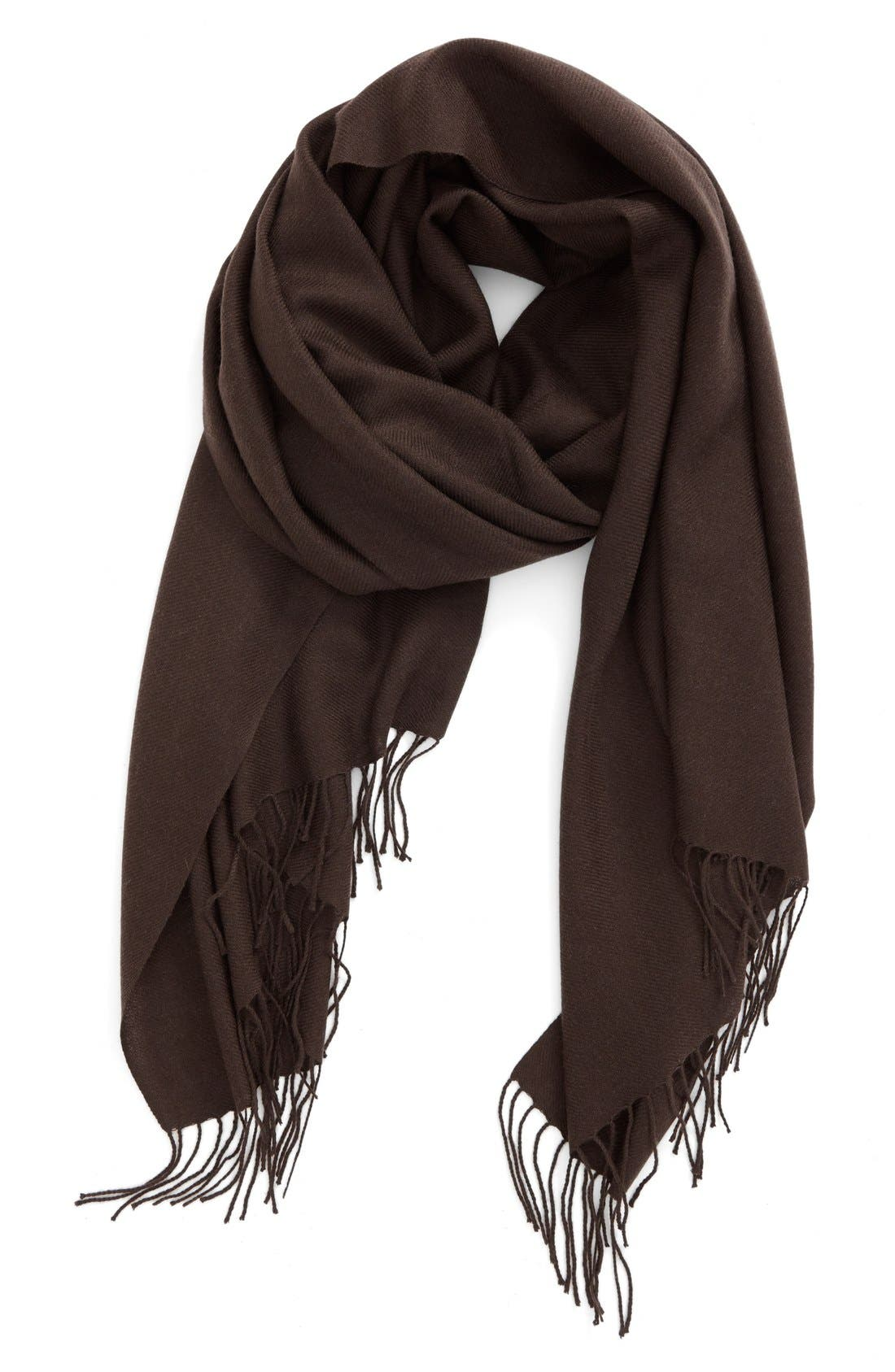 Tissue Weight Wool & Cashmere Scarf,                             Main thumbnail 19, color,