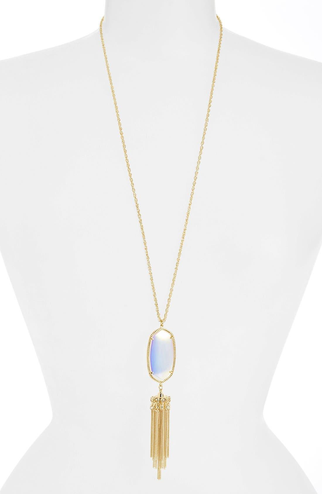 Rayne Stone Tassel Pendant Necklace,                             Alternate thumbnail 149, color,