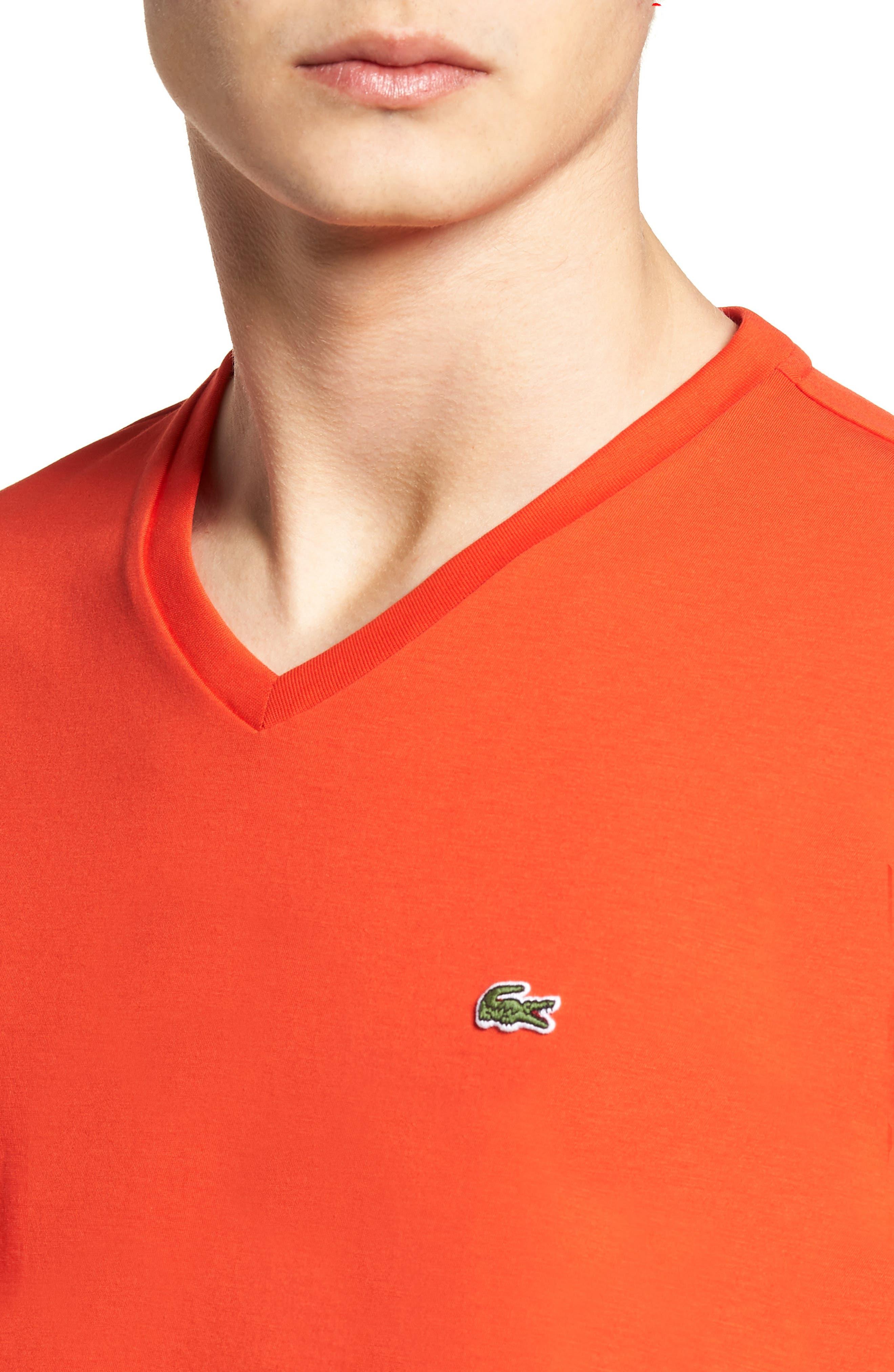 V-Neck Cotton T-Shirt,                             Alternate thumbnail 18, color,
