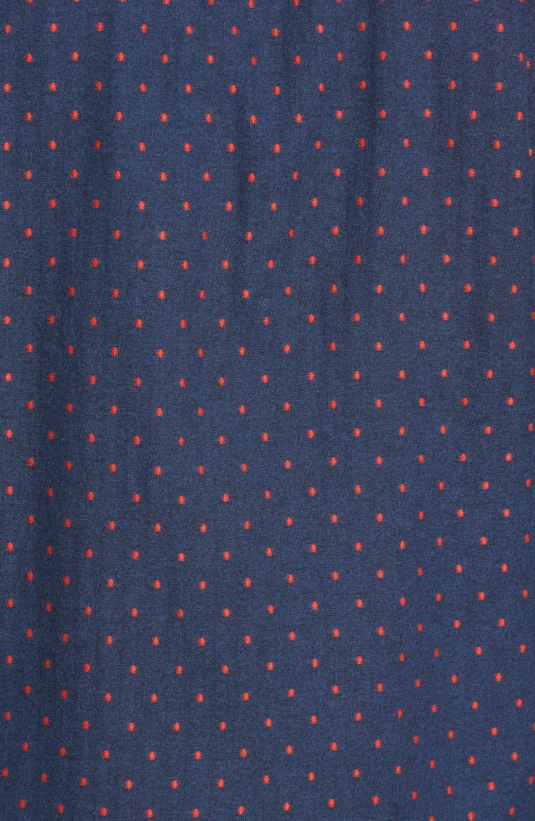 Annaby Sports Fit Dot Sport Shirt,                             Alternate thumbnail 3, color,                             423