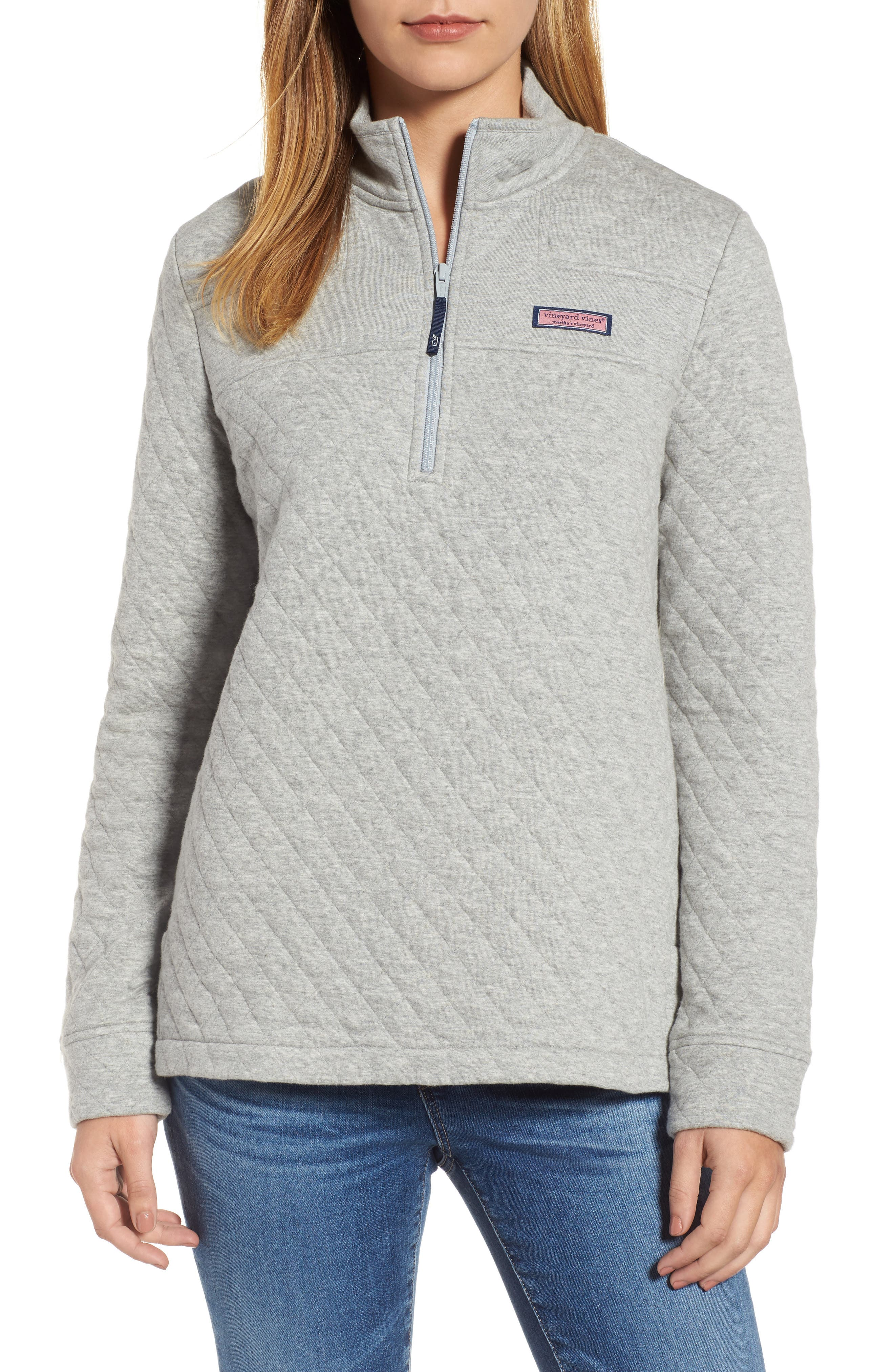 Shep Quilted Quarter Zip Pullover,                             Main thumbnail 1, color,                             039