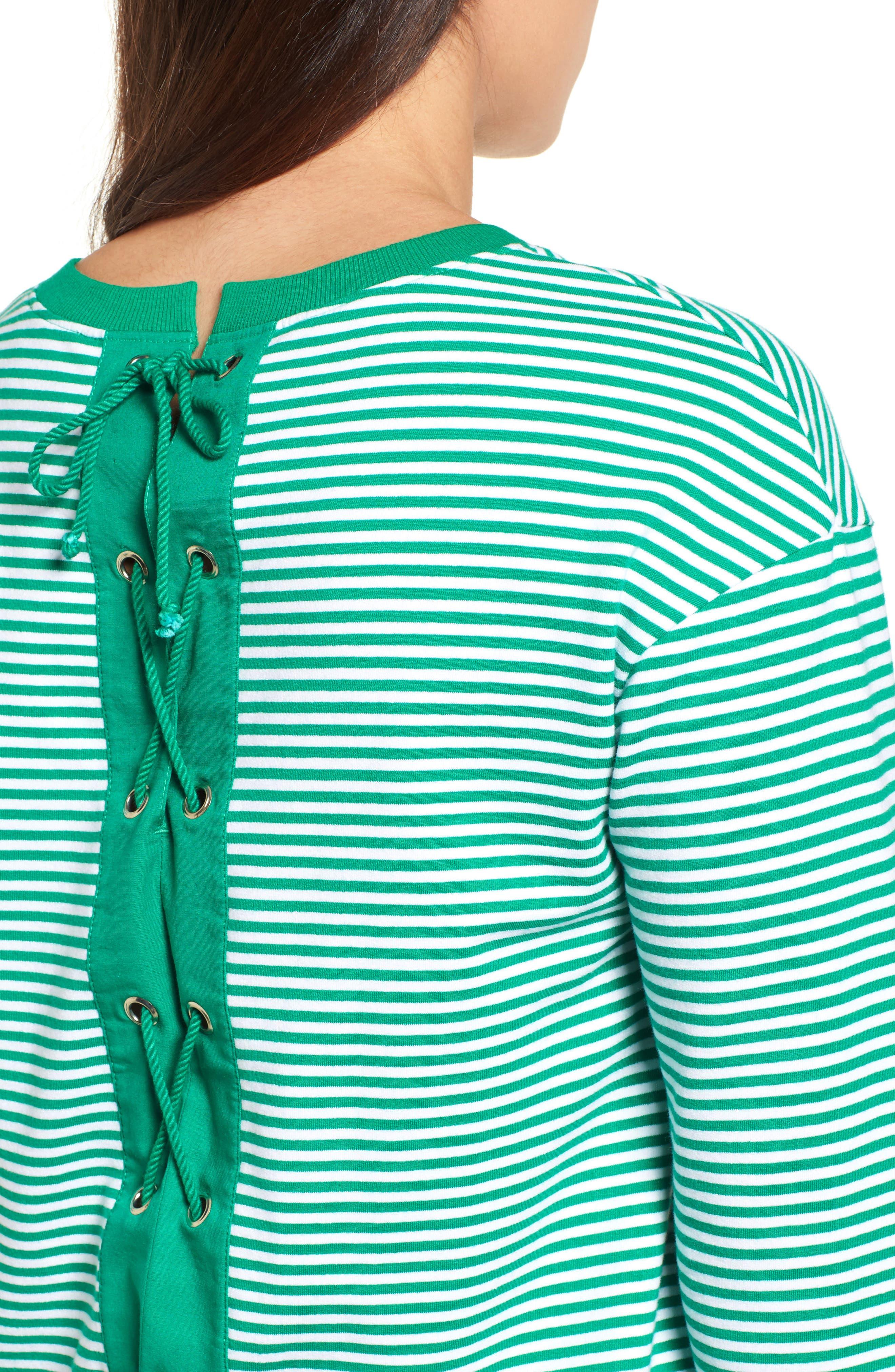 Lace-Up Knit Top,                             Alternate thumbnail 4, color,                             310