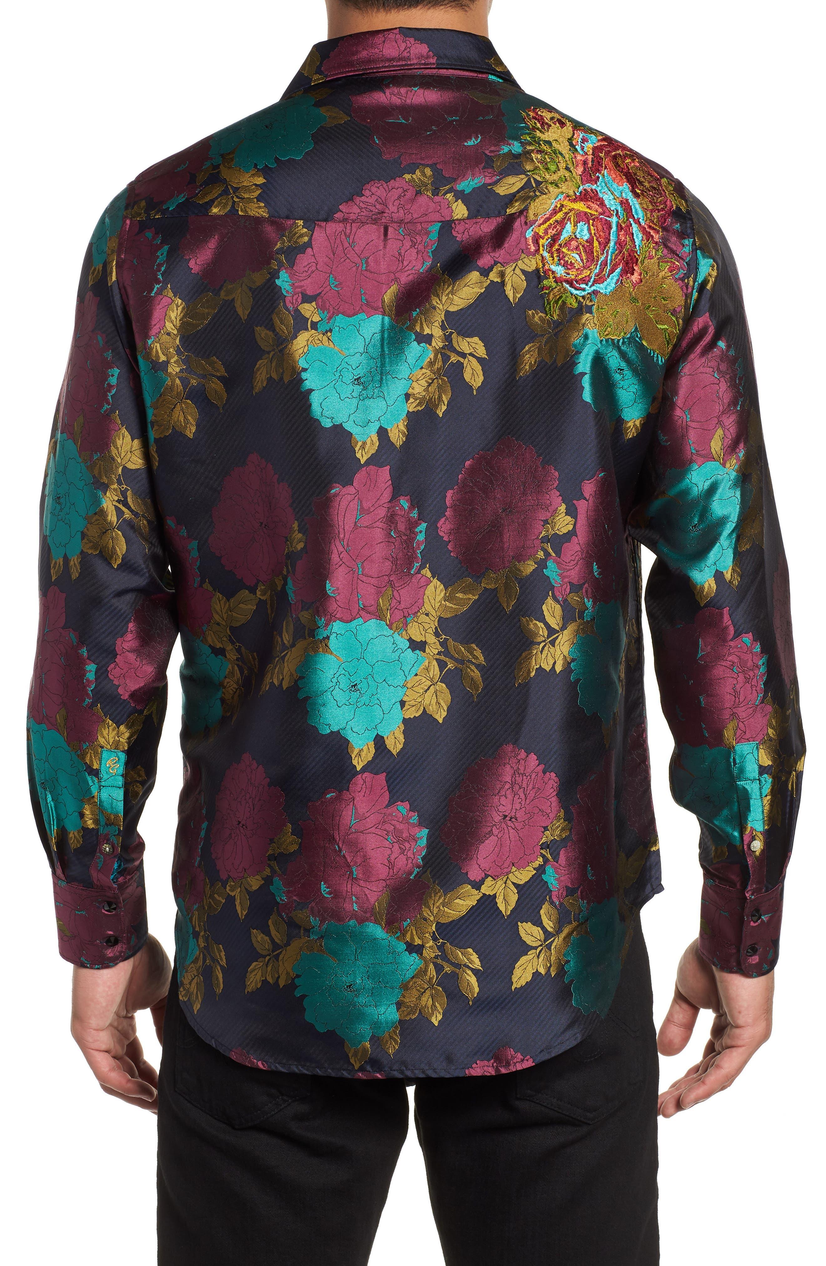 Tango Limited Edition Classic Fit Silk Sport Shirt,                             Alternate thumbnail 3, color,                             MULTI