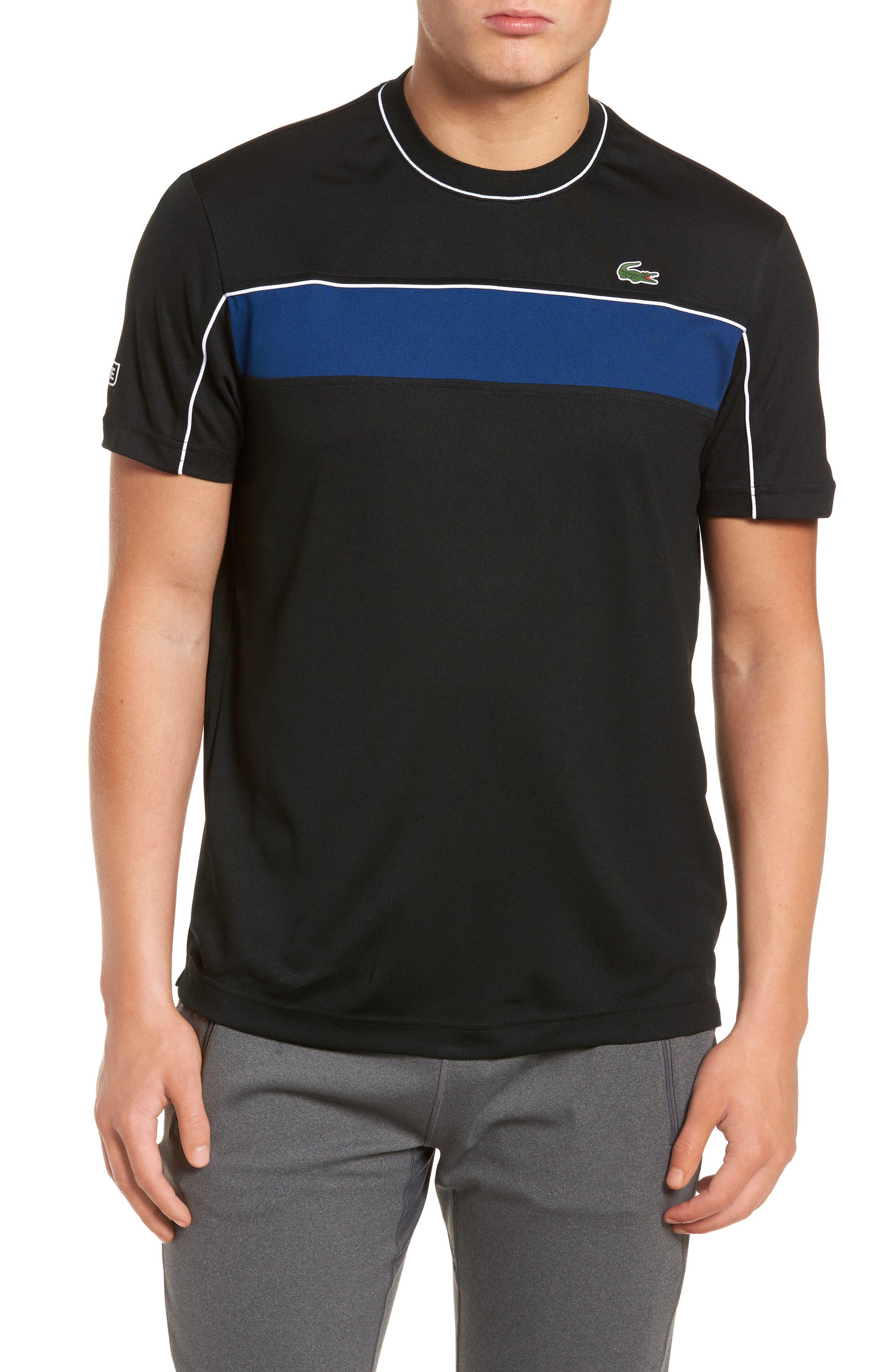 Piqué T-Shirt,                         Main,                         color, BLACK/ MARINO/ WHITE