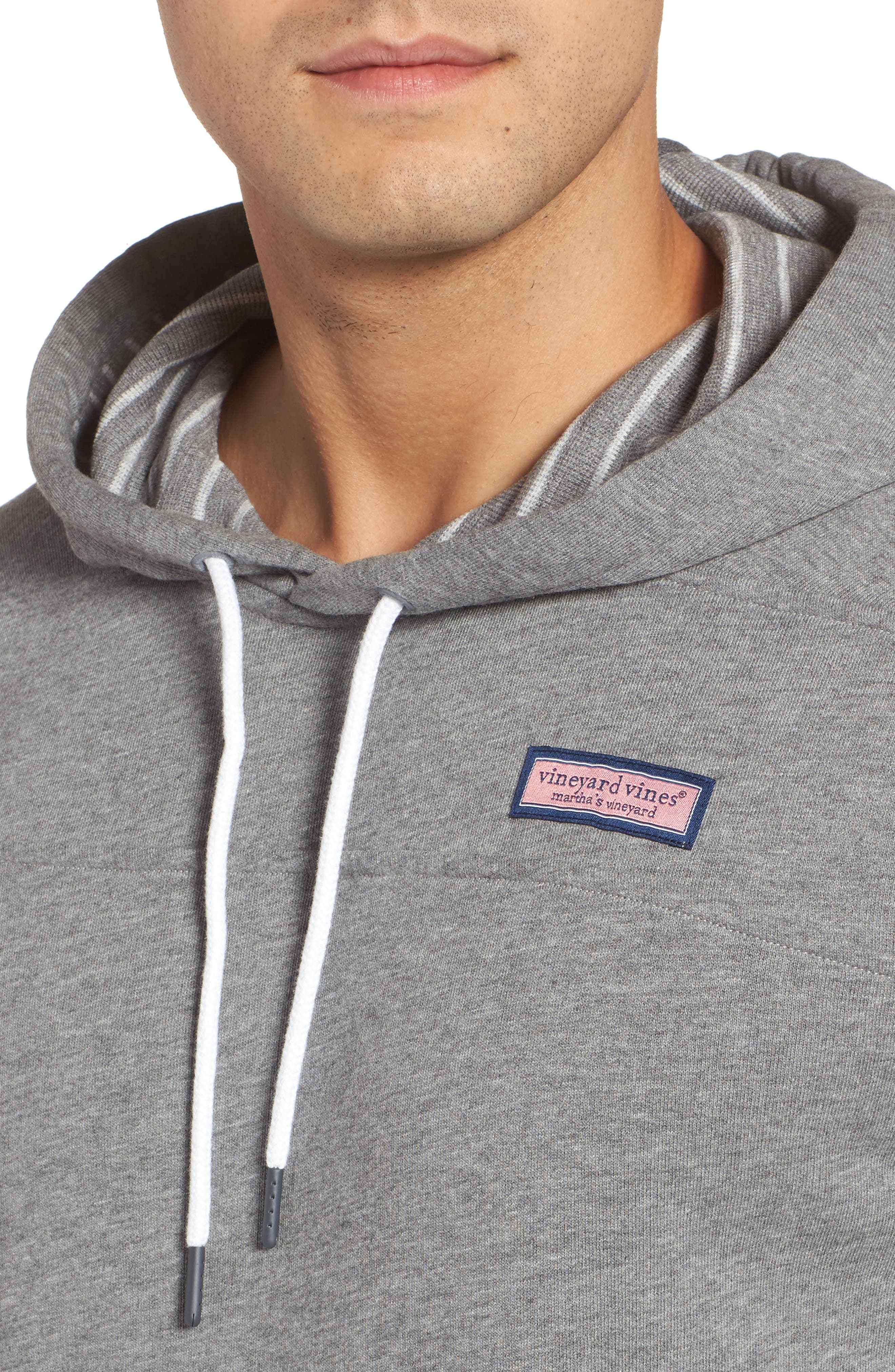 Washed Cotton Pullover Hoodie,                             Alternate thumbnail 4, color,                             030