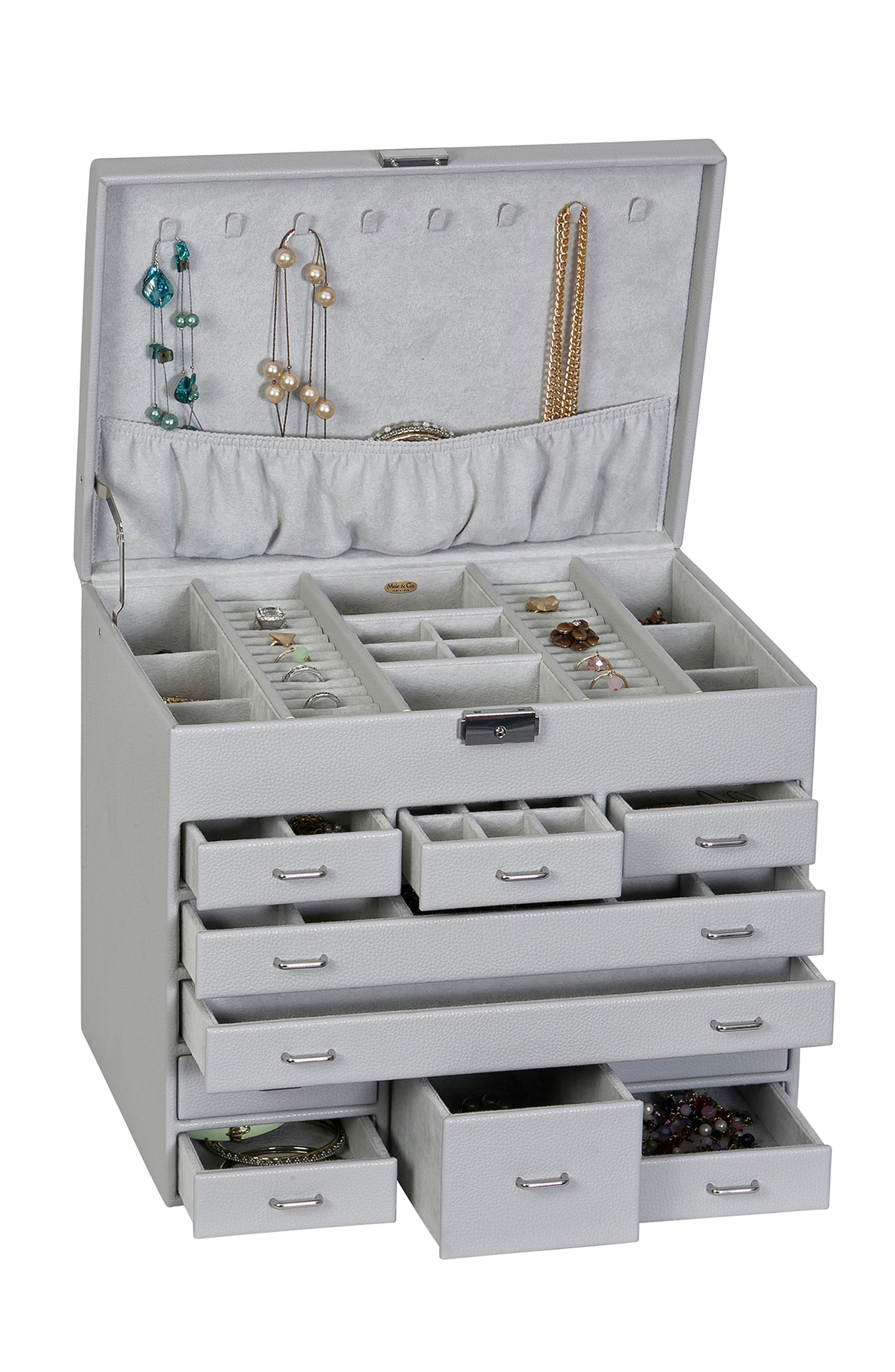 Somerset Locking Jewelry Box,                             Alternate thumbnail 2, color,