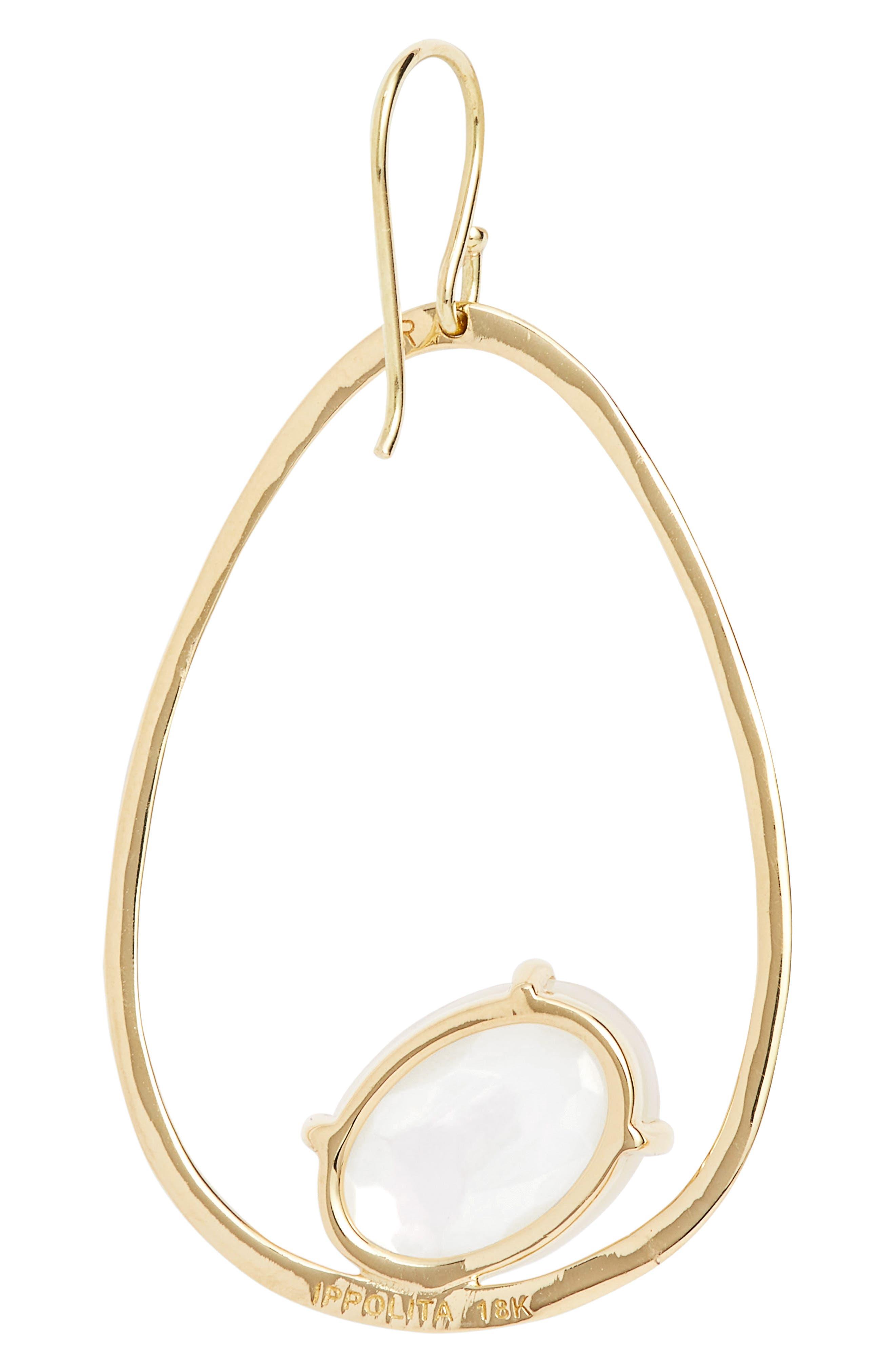 Rock Candy 18K Gold Large Drop Earrings,                             Alternate thumbnail 3, color,                             106