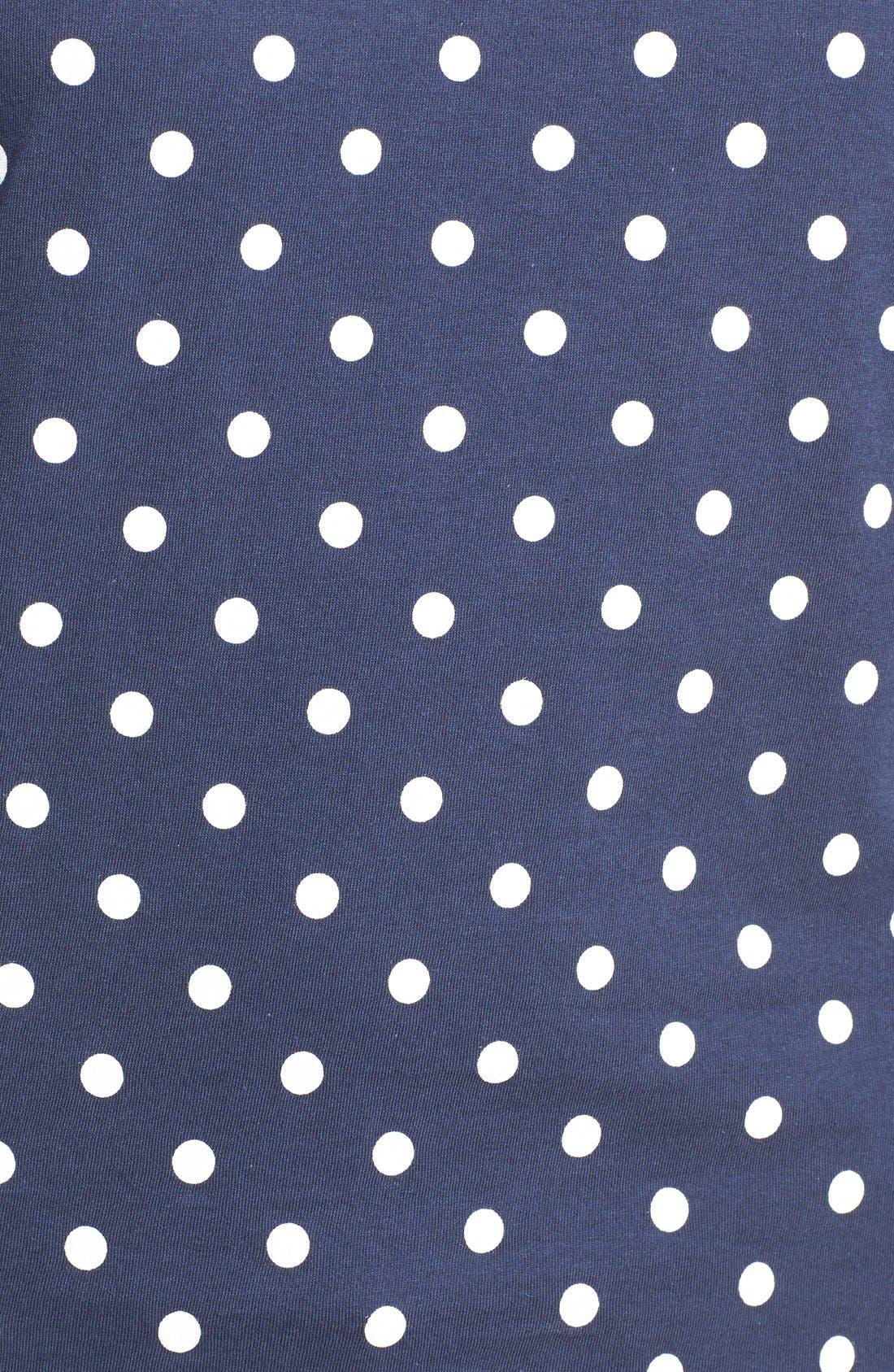 Polka Dot Tee,                             Alternate thumbnail 2, color,                             NAVY/ WHITE