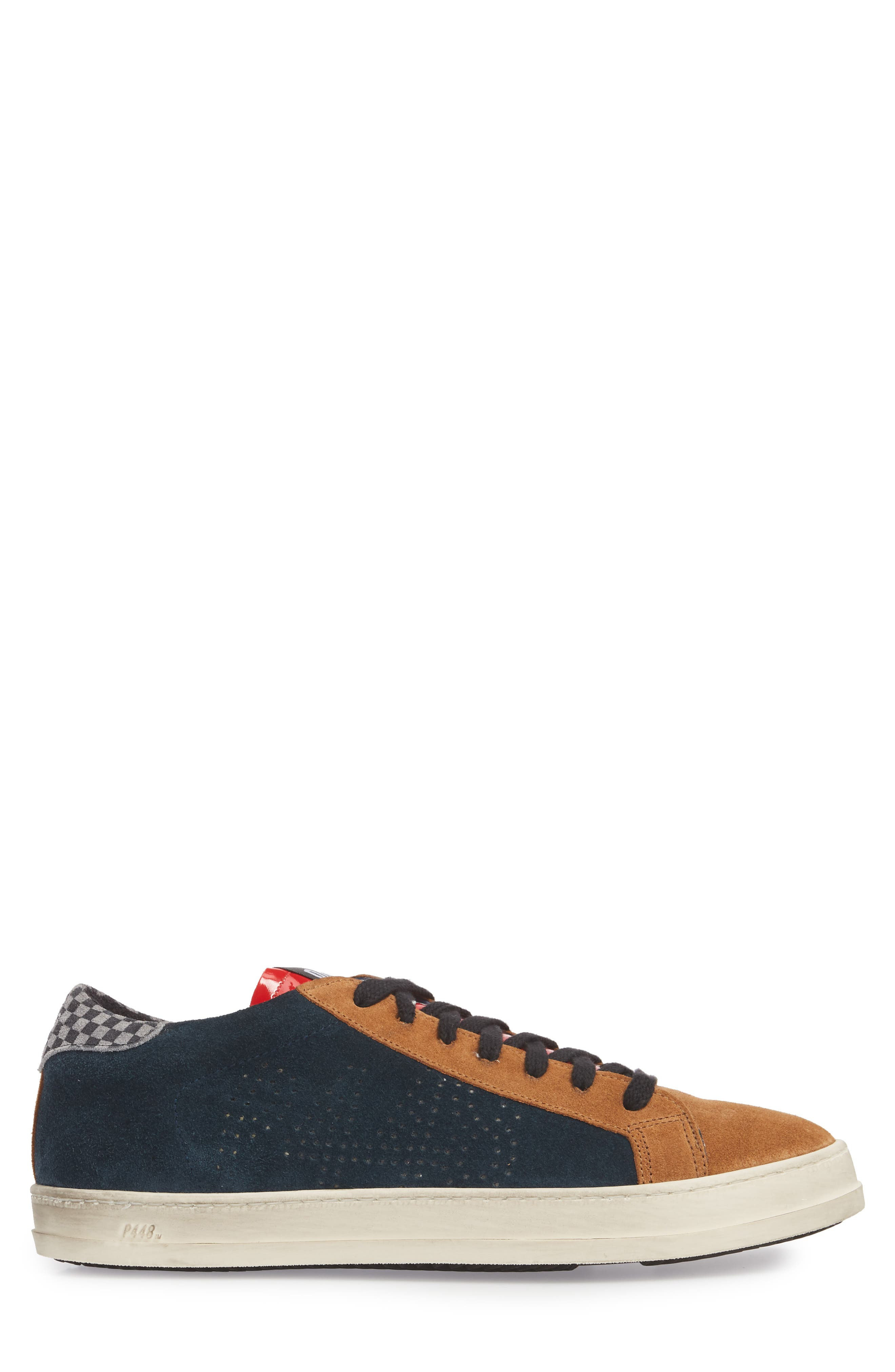 John Mix Low Top Sneaker,                             Alternate thumbnail 3, color,                             FOREST BLUE