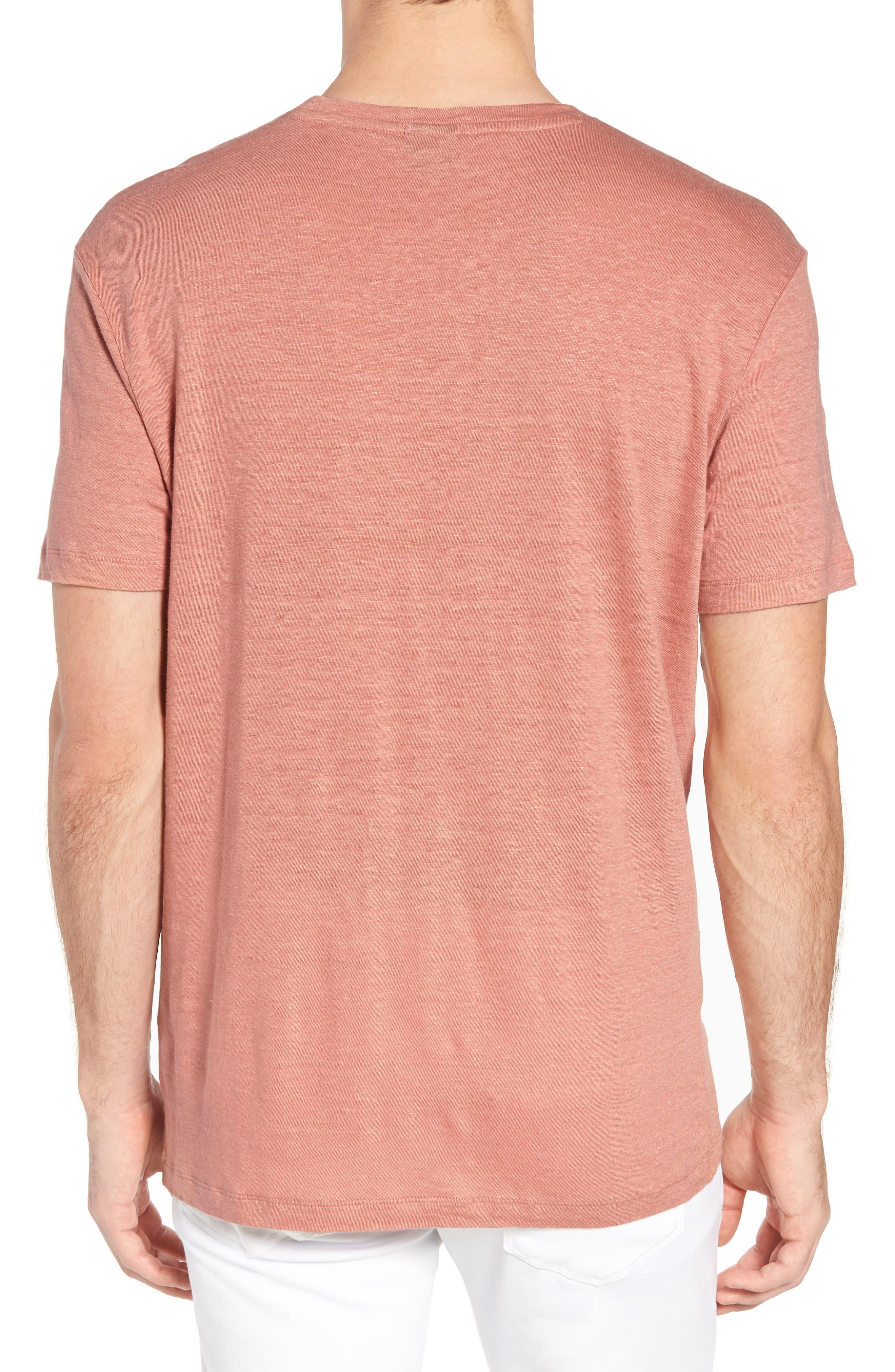 Hugo Boss Tiburt Linen T-Shirt,                             Alternate thumbnail 2, color,                             631