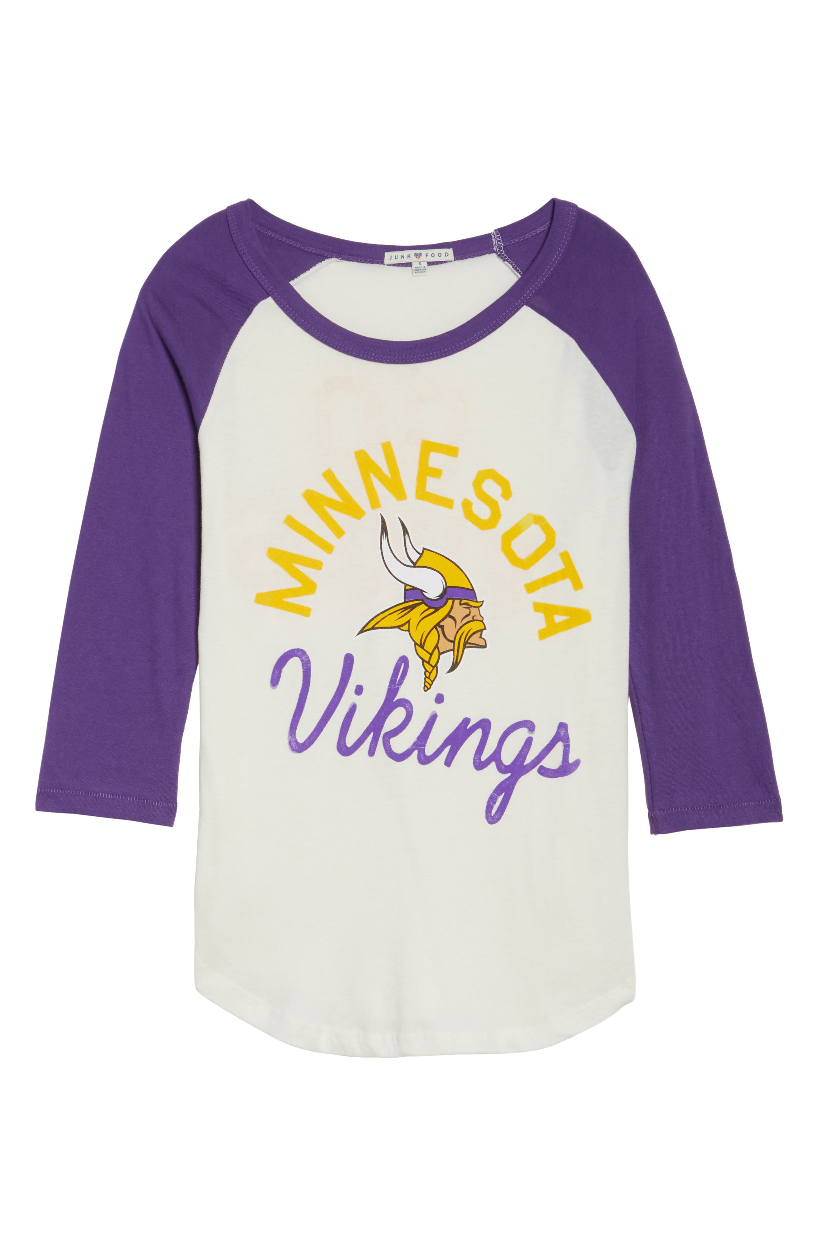 NFL Minnesota Vikings Raglan Tee,                             Alternate thumbnail 6, color,                             189