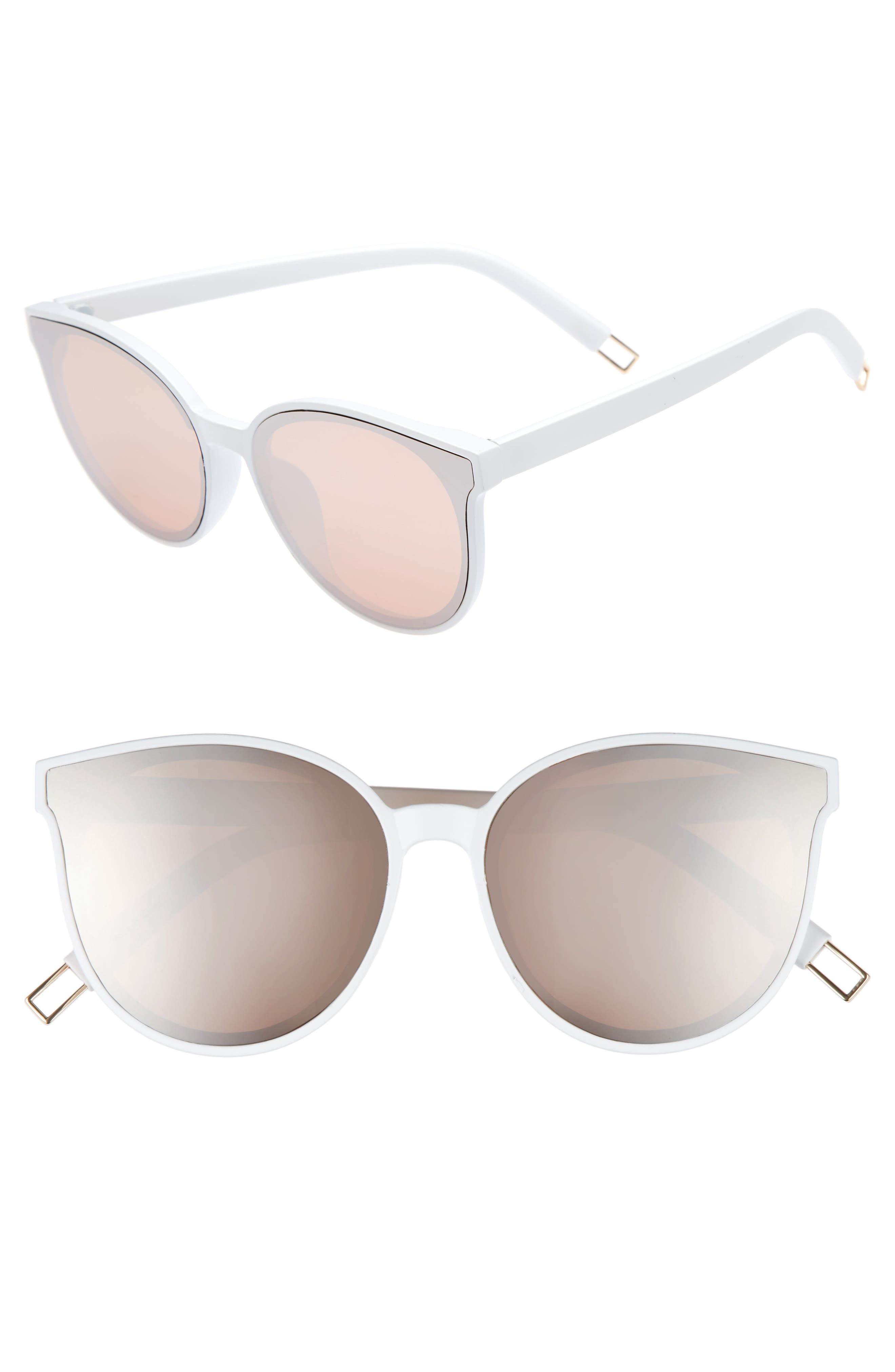 59mm Metal Tip Round Sunglasses,                             Main thumbnail 5, color,