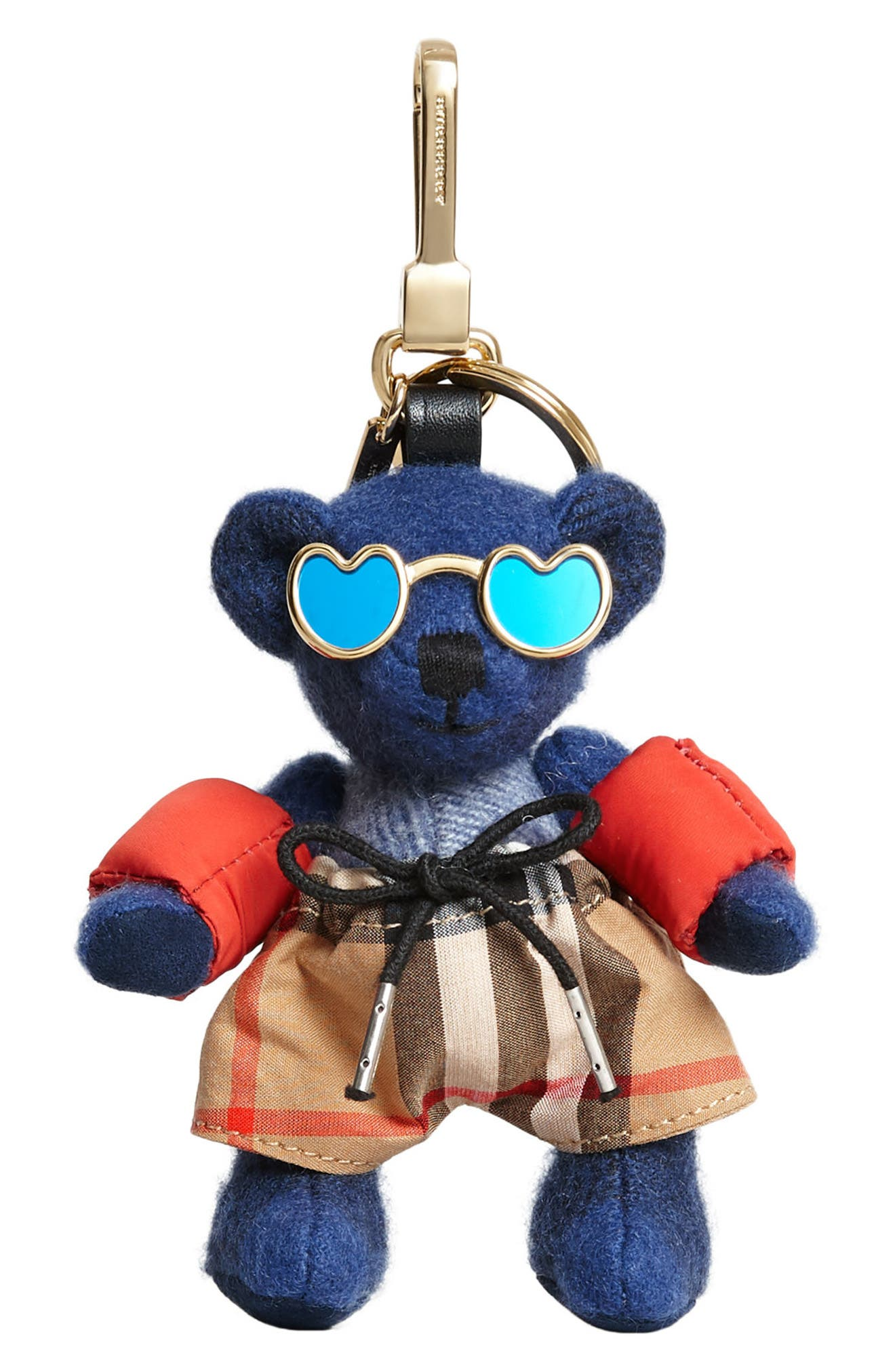 Thomas Bear Beach Bag Charm,                             Main thumbnail 1, color,                             400